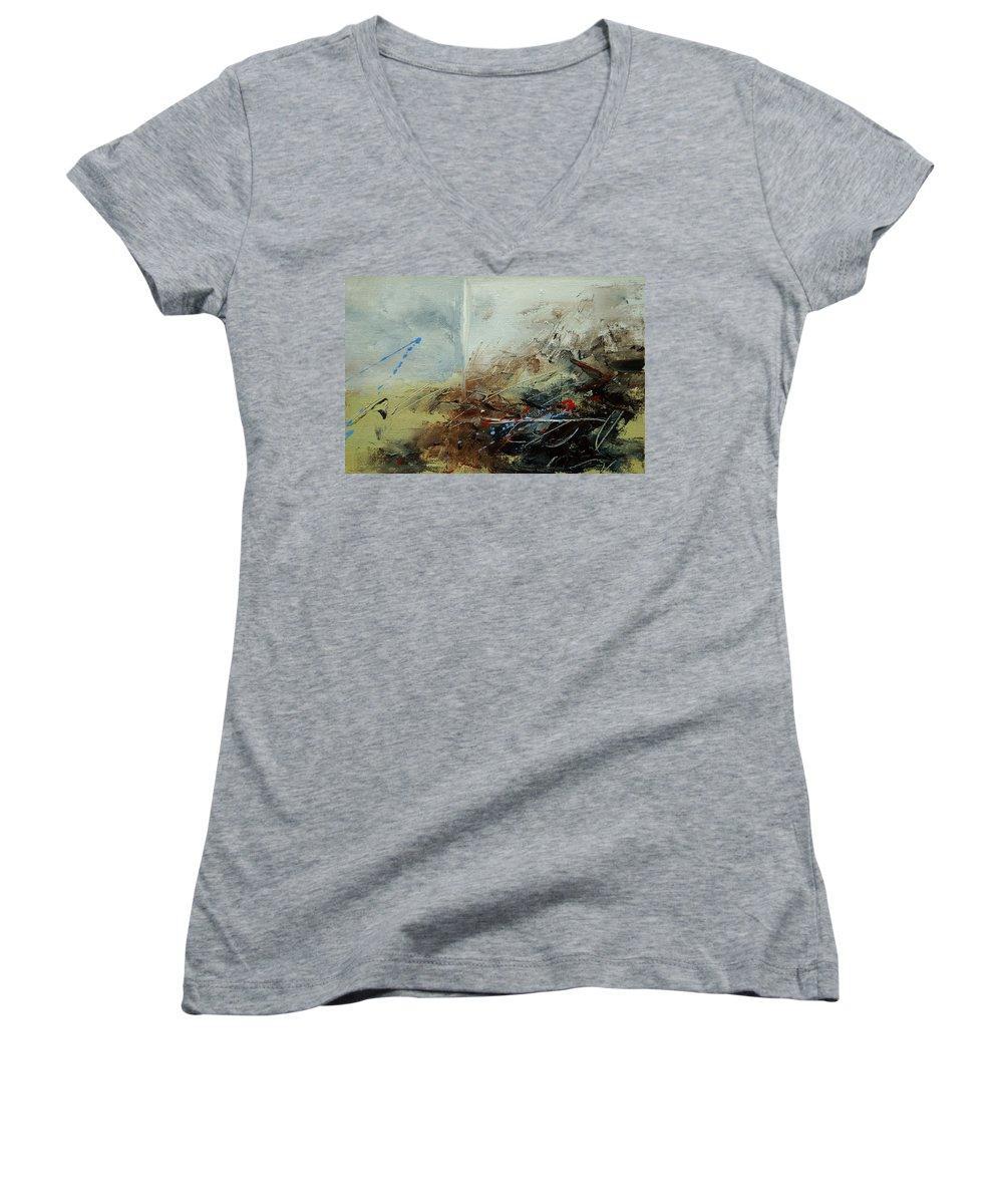 Abstract Women's V-Neck T-Shirt featuring the print Abstract 070408 by Pol Ledent