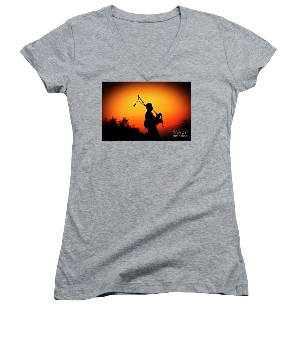 Sunset Women's V-Neck (Athletic Fit) featuring the photograph Amazing Grace by Jim Cazel