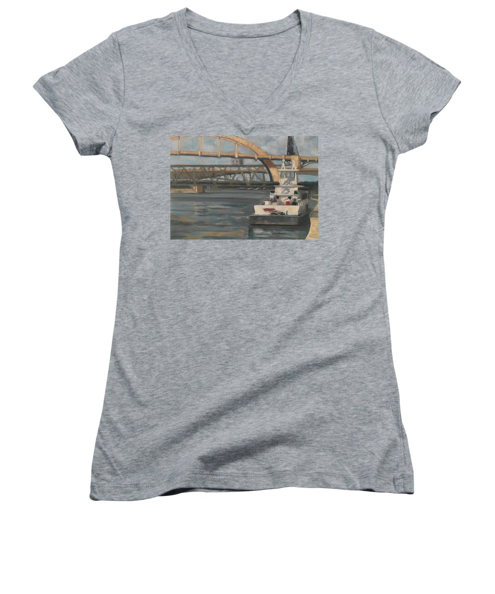 Mississippi Women's V-Neck (Athletic Fit) featuring the painting American Beauty by Laura Toth
