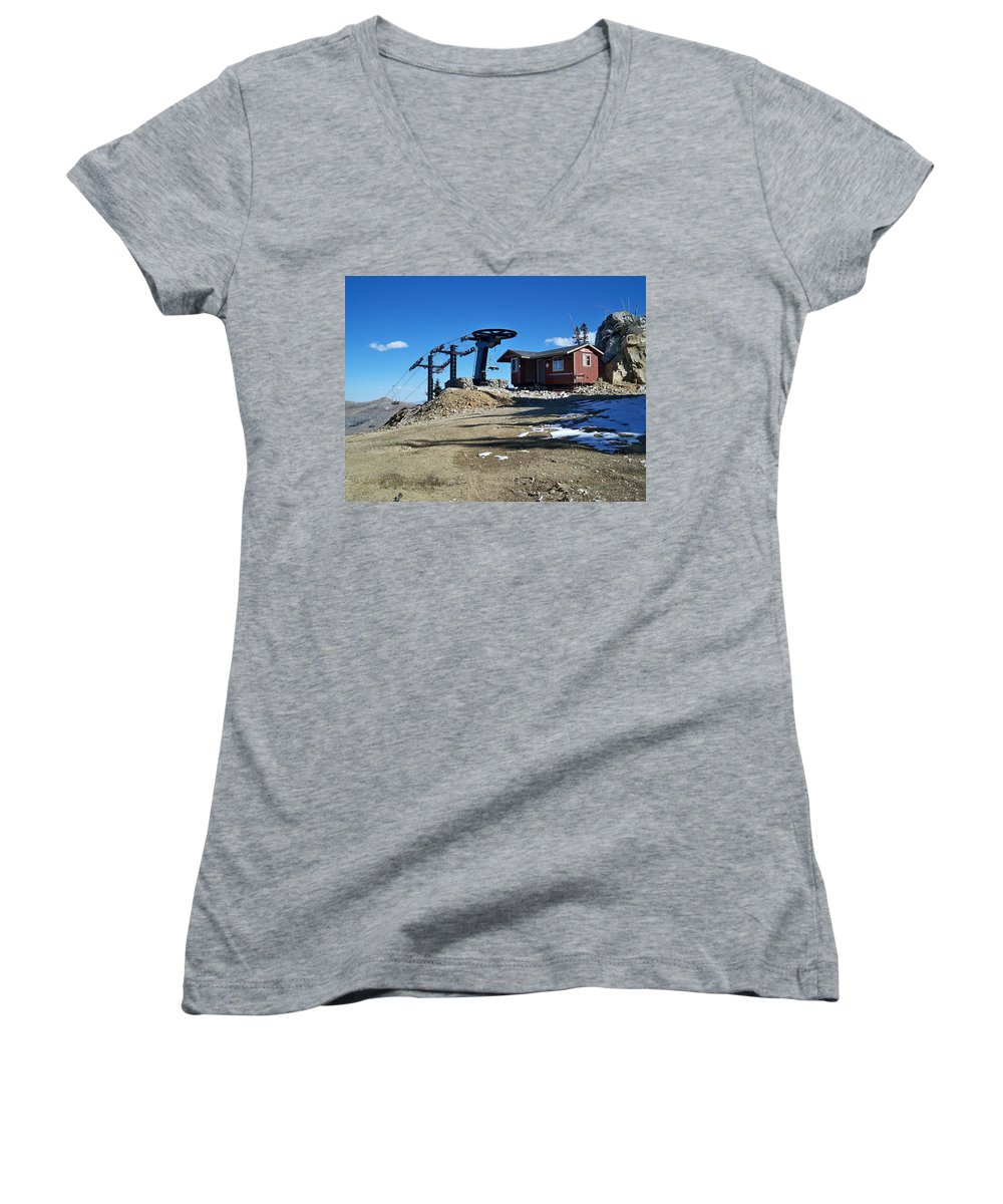 Landscape Women's V-Neck (Athletic Fit) featuring the photograph Anticipation by Michael Cuozzo