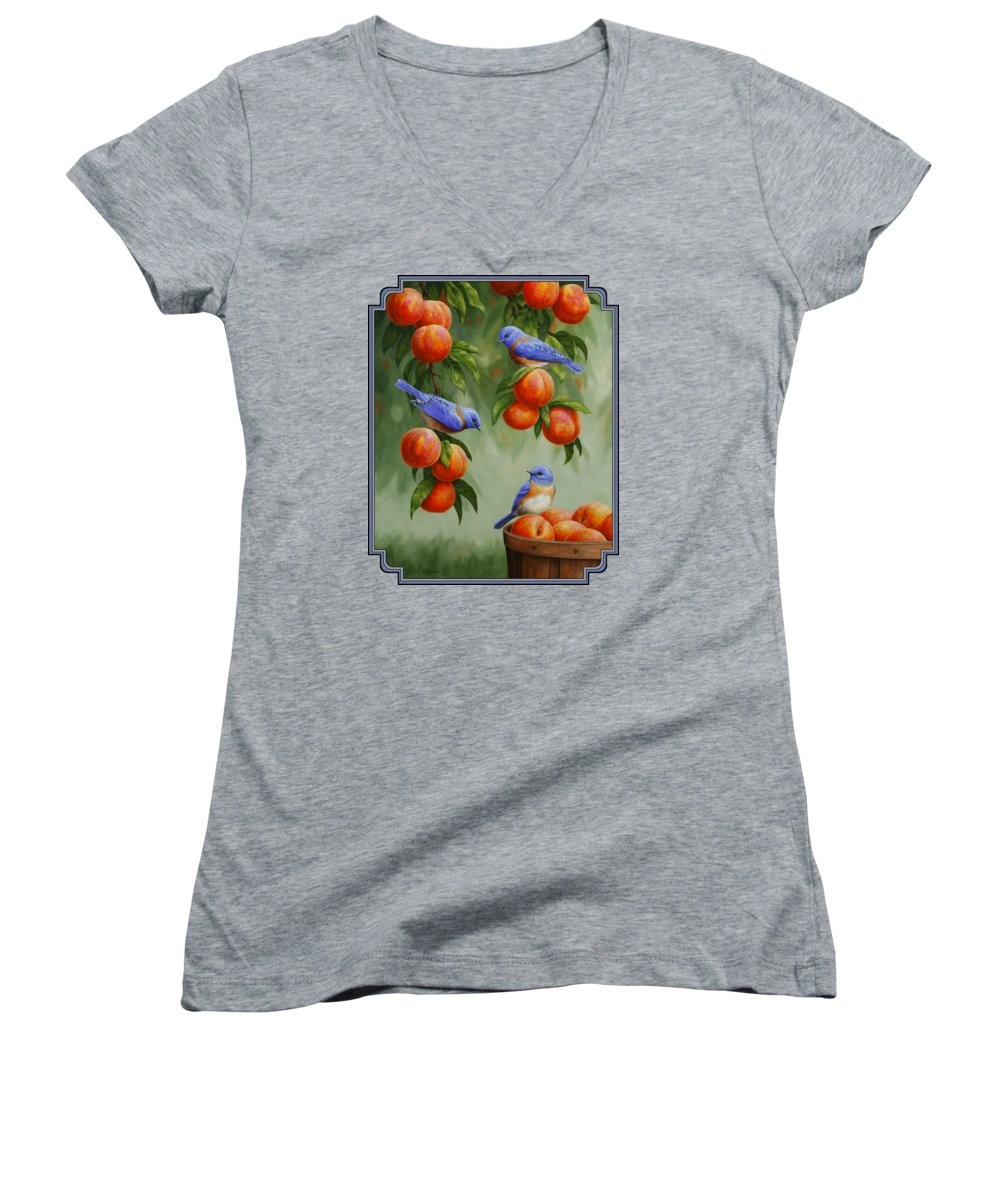 Peach Women's V-Neck T-Shirts