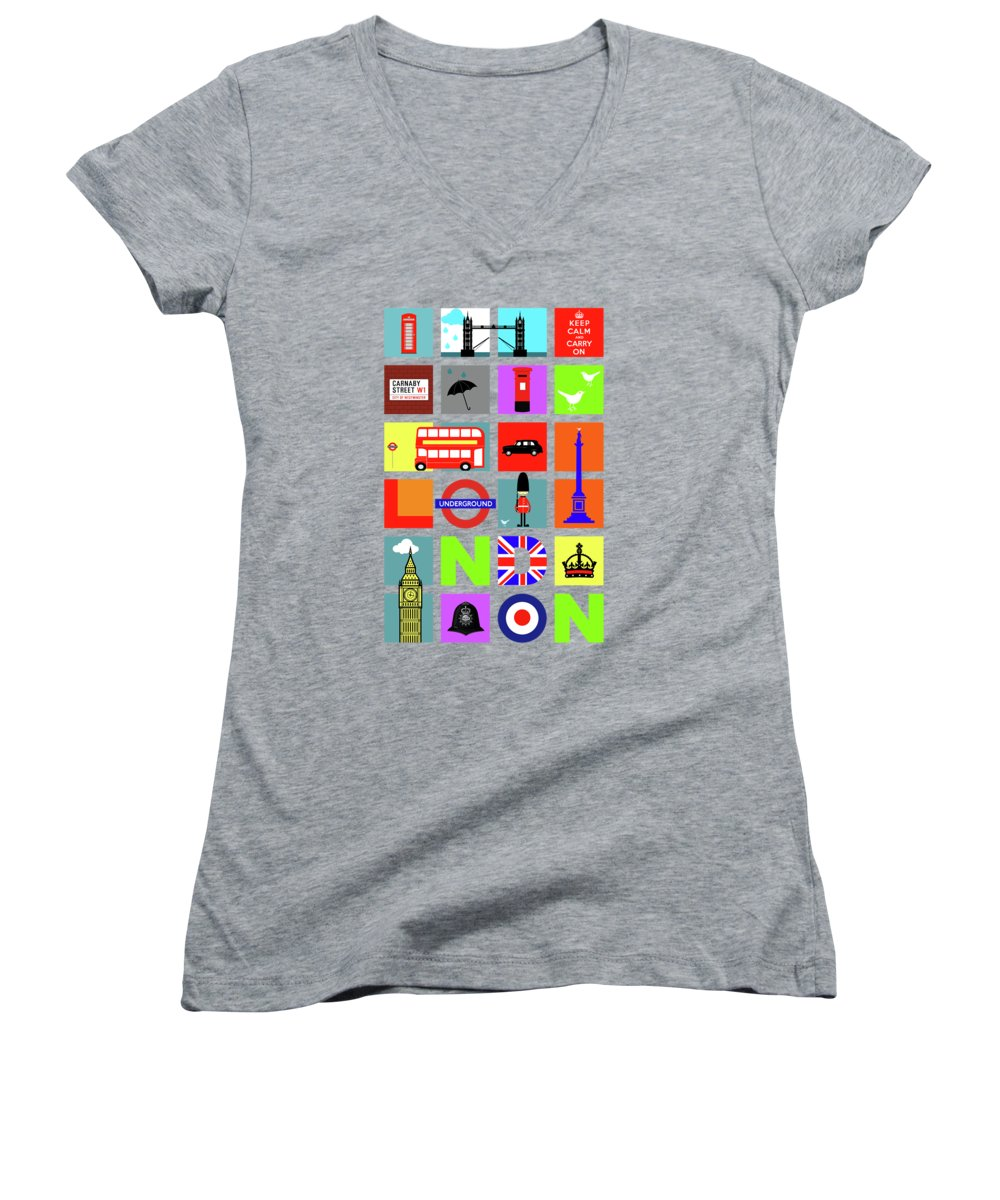 London Women's V-Neck T-Shirts