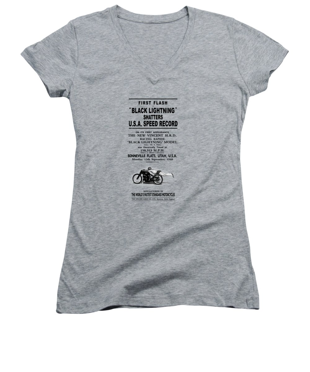 Rollie Free Women's V-Neck featuring the photograph Rollie Free Flying Mile by Mark Rogan