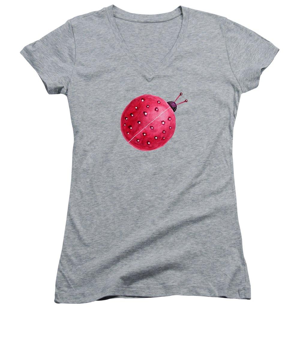 Ladybug Women's V-Neck T-Shirts