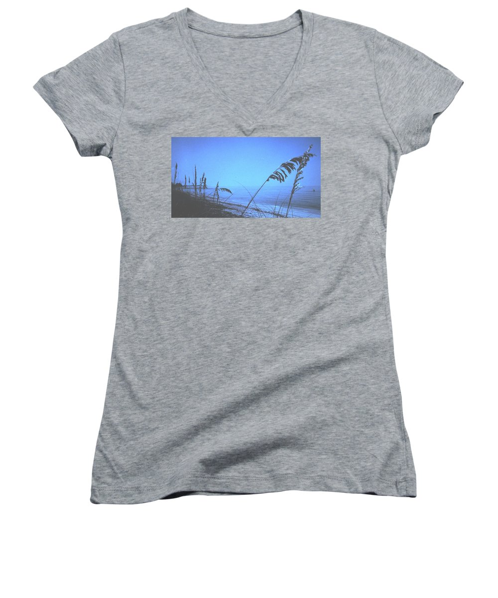 Women's V-Neck (Athletic Fit) featuring the photograph Bahama Blue by Ian MacDonald