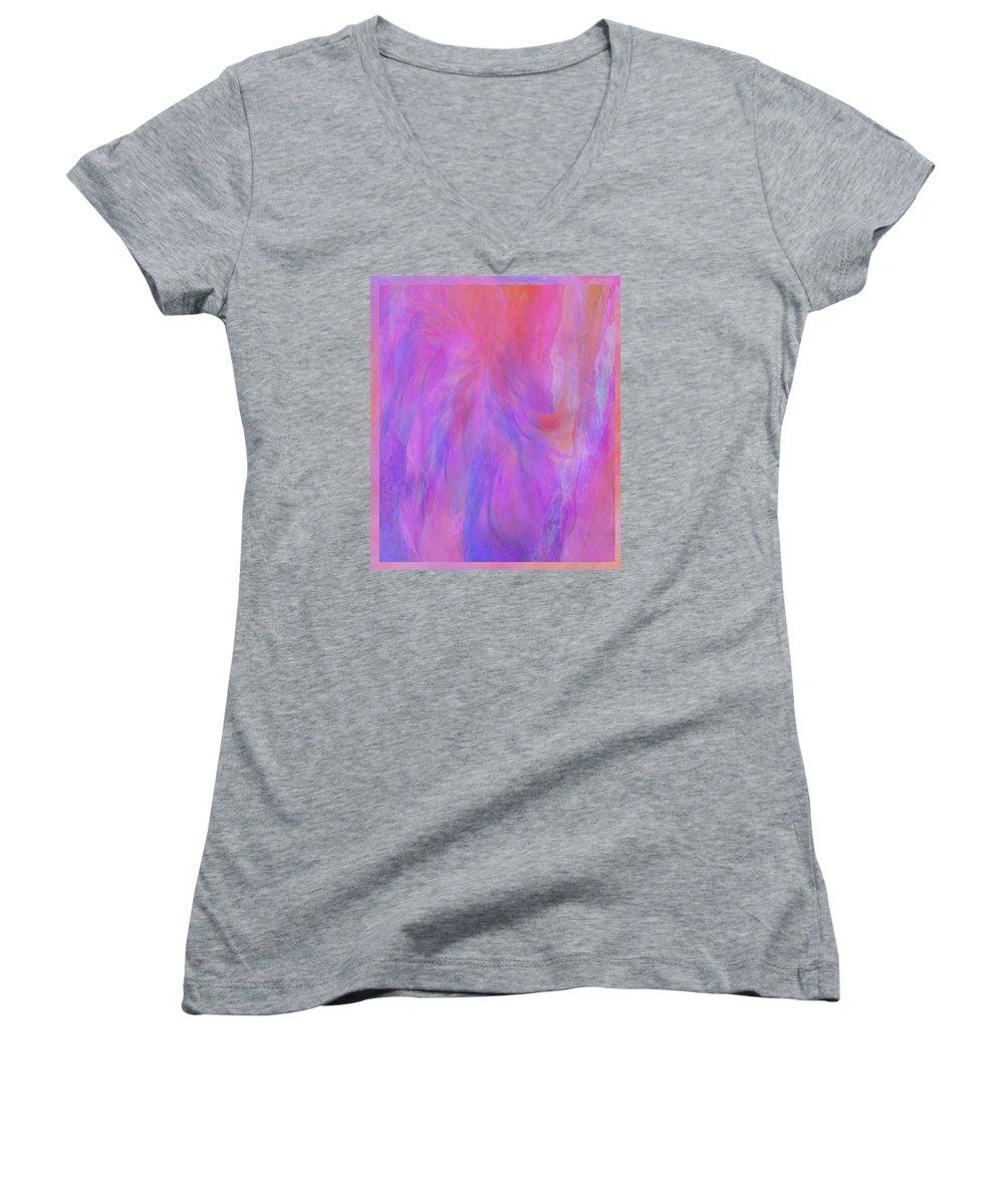 Digital Art Women's V-Neck (Athletic Fit) featuring the digital art Blossom by Linda Murphy