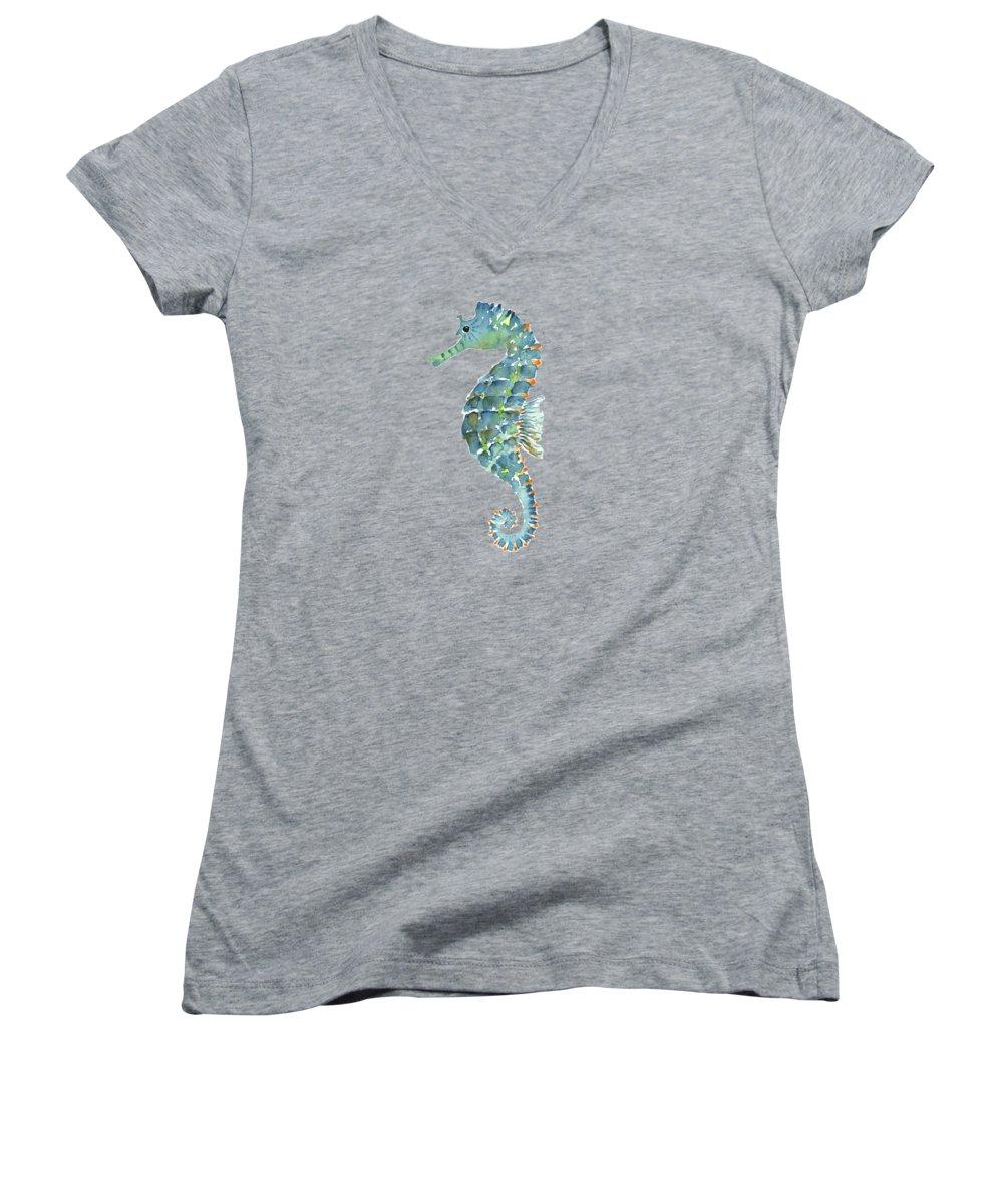 Seahorse Women's V-Neck T-Shirts