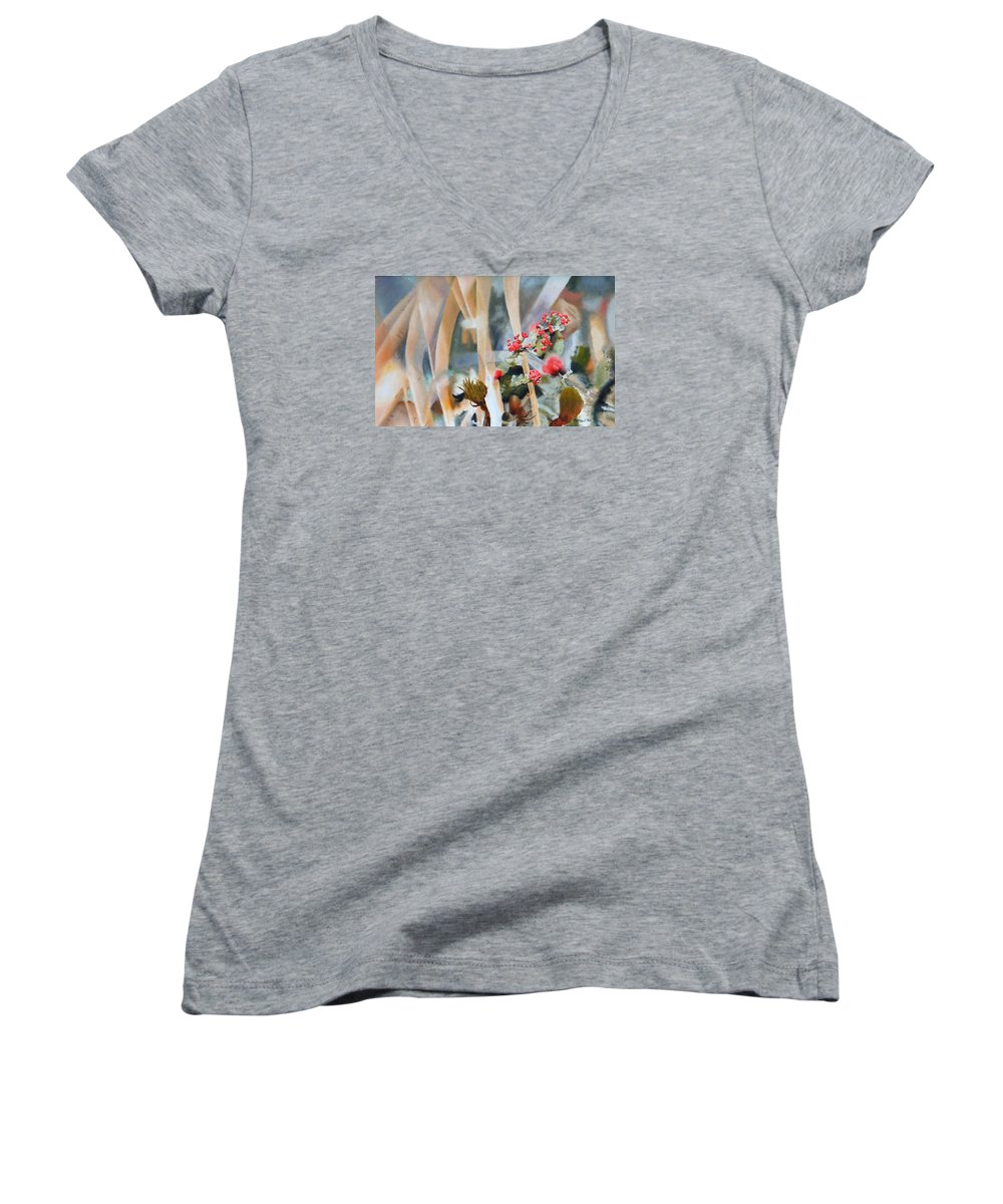 Nature Women's V-Neck (Athletic Fit) featuring the painting British Soldiers by Dave Martsolf