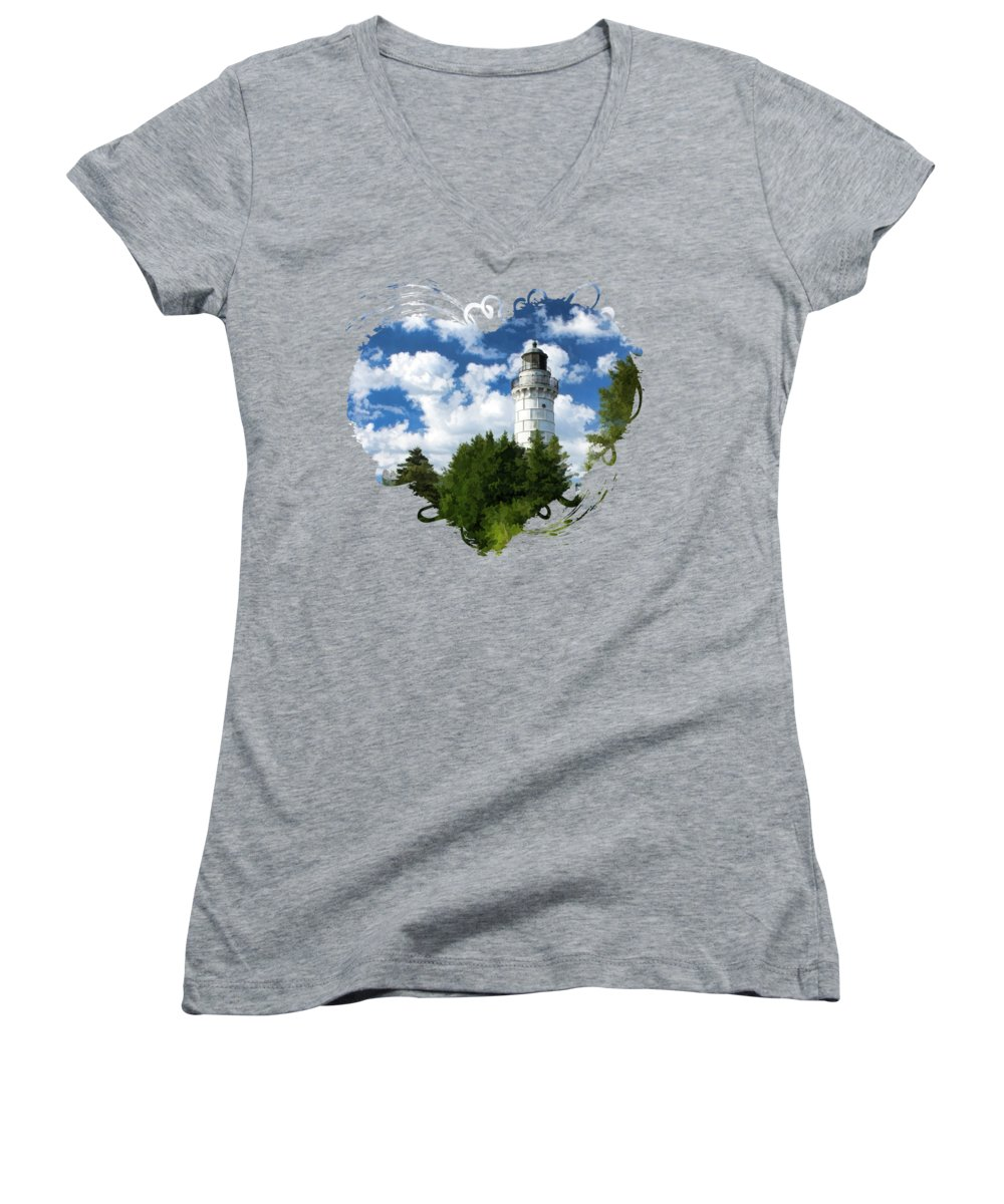 Lake Michigan Women's V-Neck T-Shirts