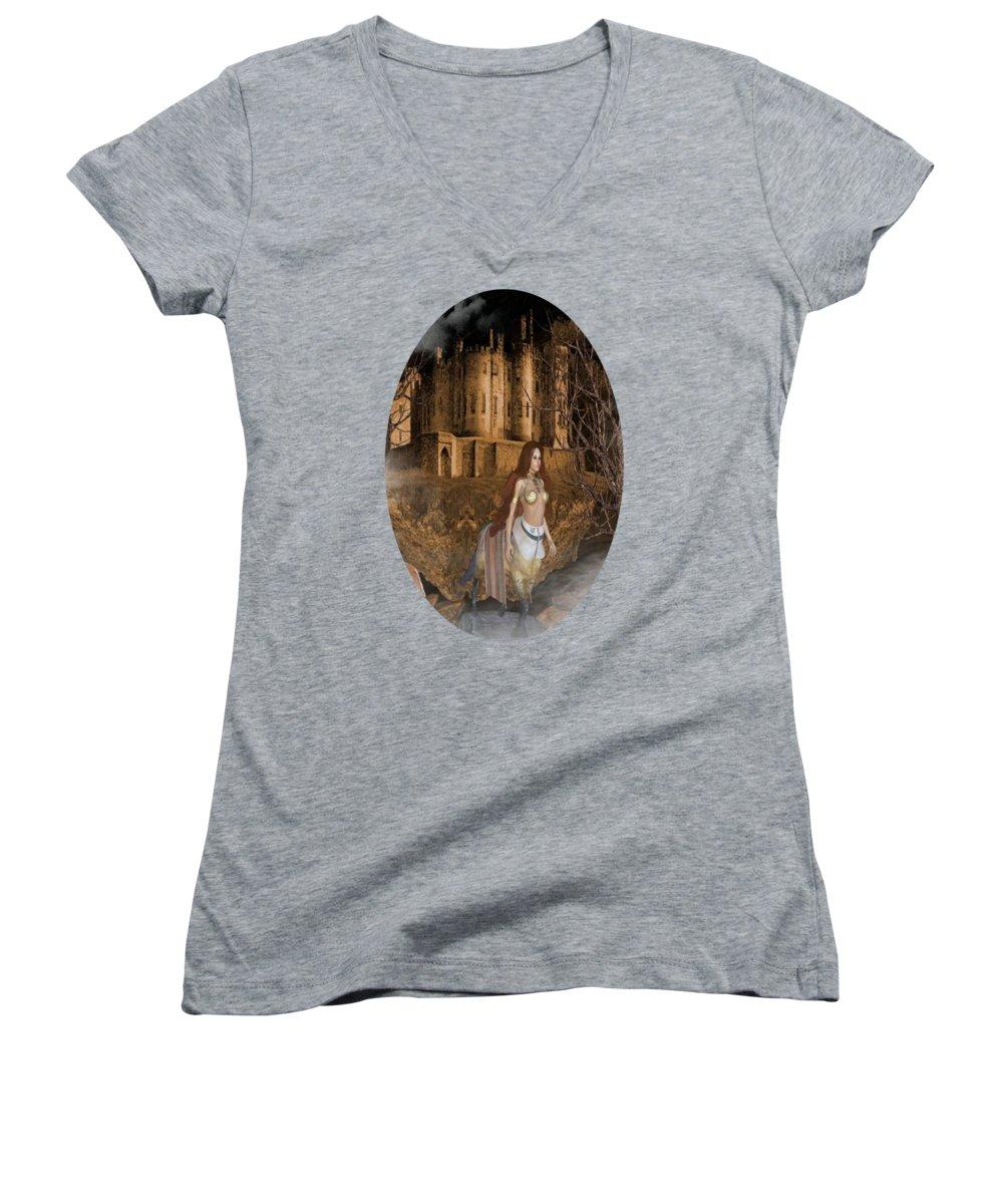 Centaur Women's V-Neck T-Shirts