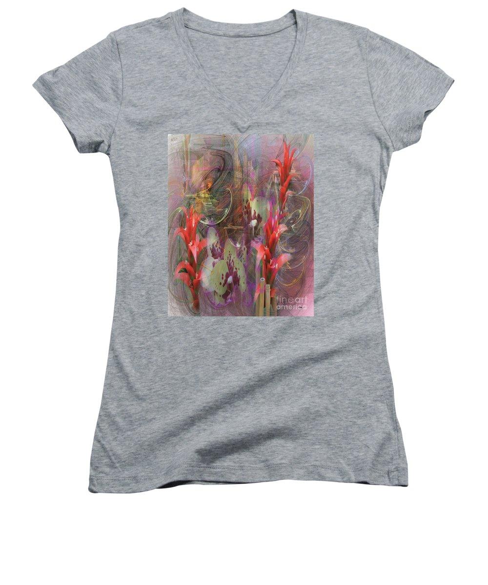 Chosen Ones Women's V-Neck (Athletic Fit) featuring the digital art Chosen Ones by John Beck