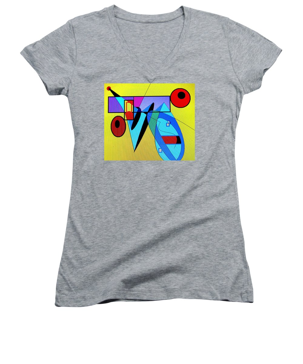 Horn Women's V-Neck (Athletic Fit) featuring the digital art Come Blow Your Horn by Ian MacDonald
