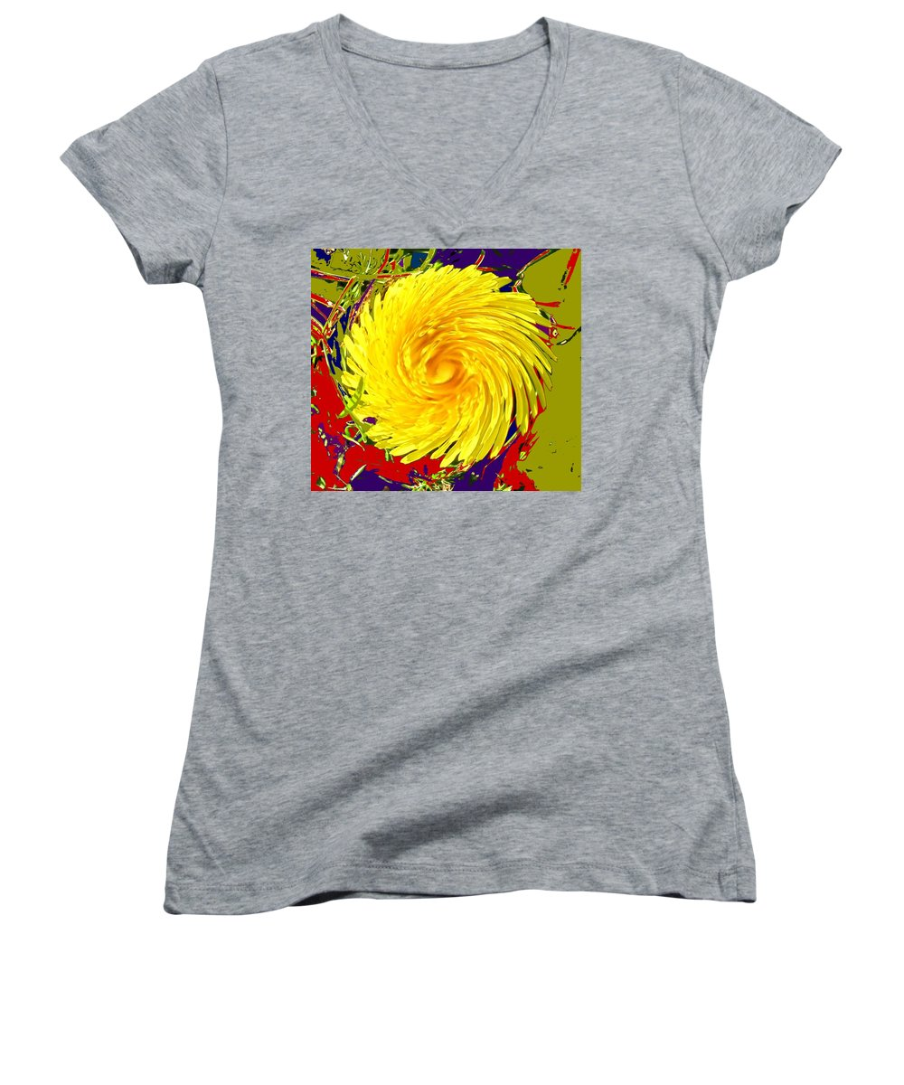 Flower Women's V-Neck (Athletic Fit) featuring the photograph Dandy Three by Ian MacDonald