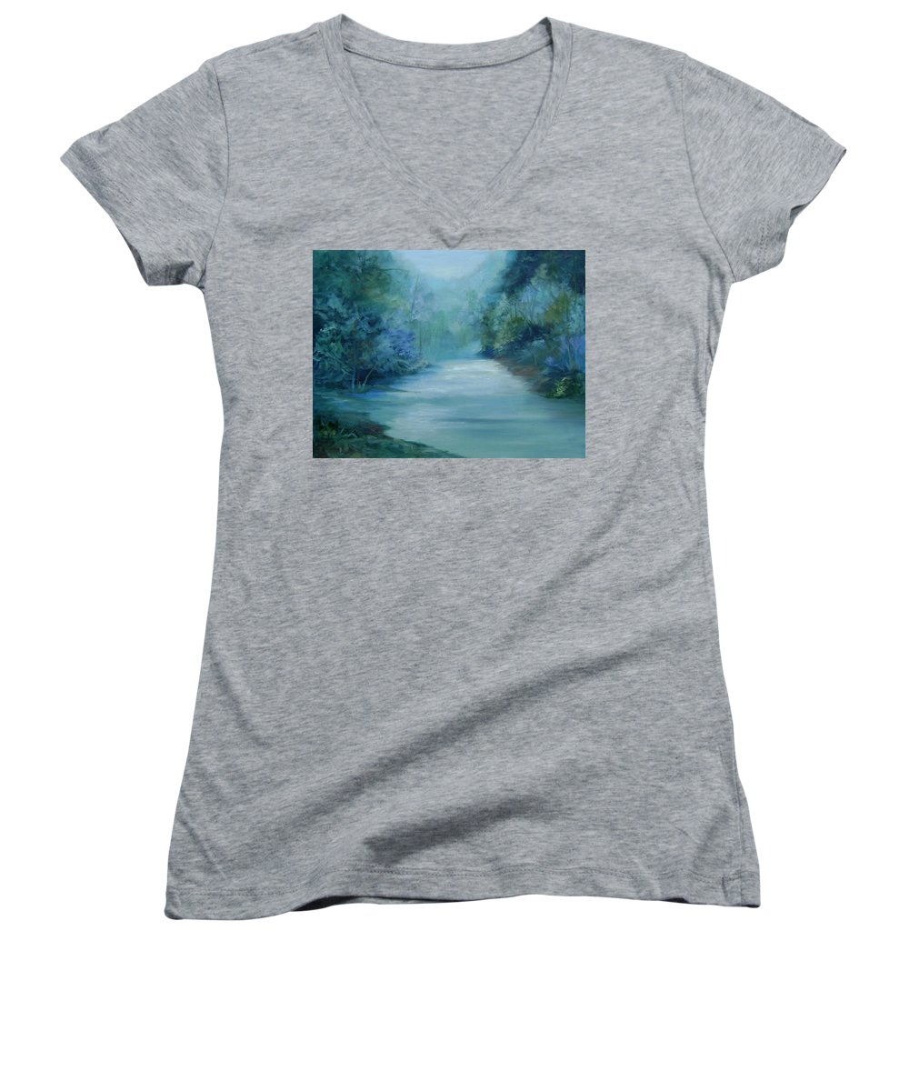 Burton River Georgia Women's V-Neck (Athletic Fit) featuring the painting Dreamsome by Ginger Concepcion