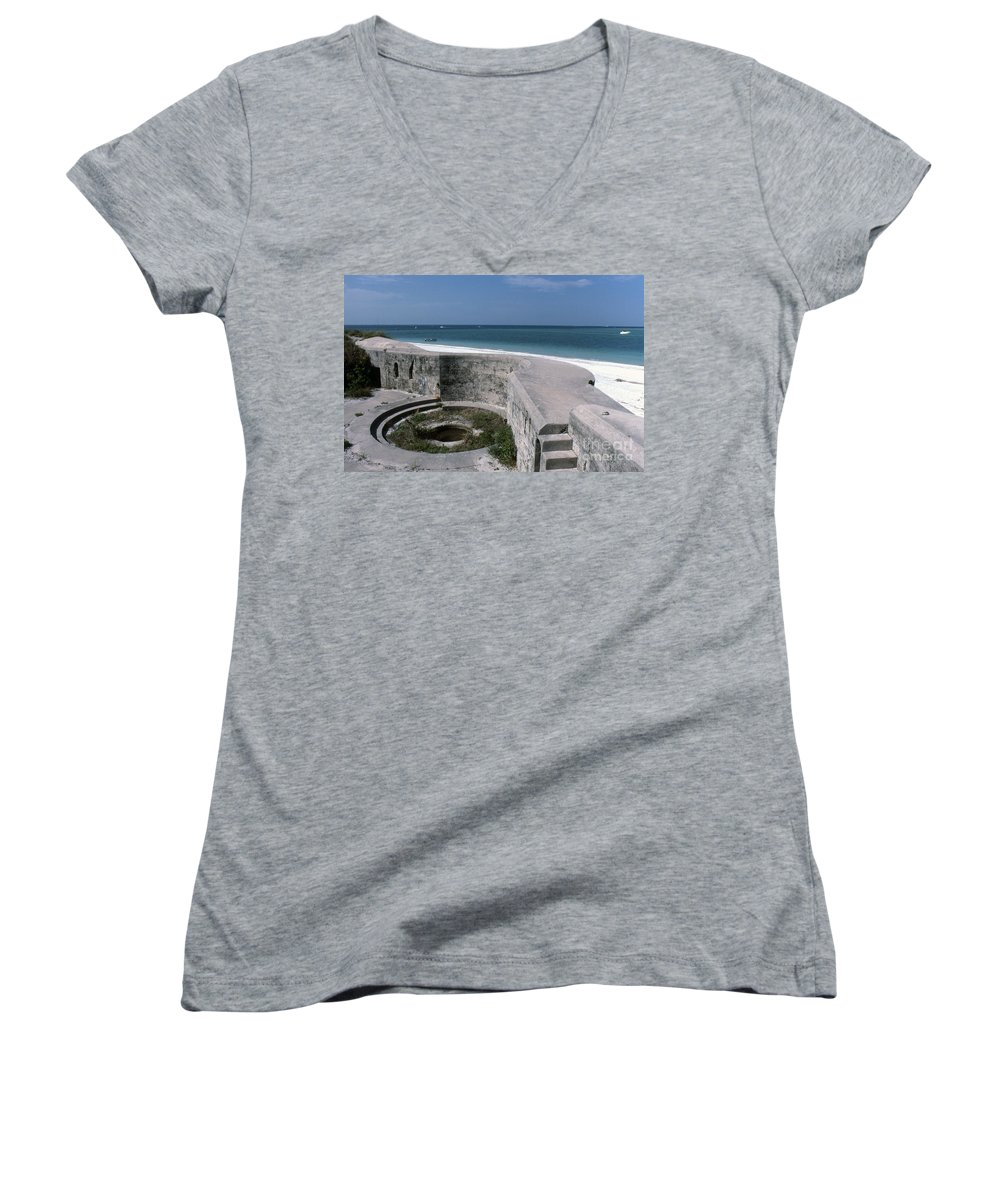 Beaches Women's V-Neck (Athletic Fit) featuring the photograph Egmont Key by Richard Rizzo