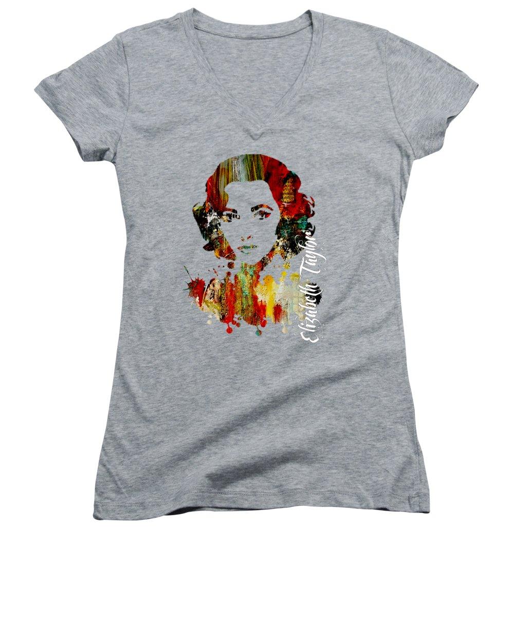 Elizabeth Taylor Women's V-Neck T-Shirts