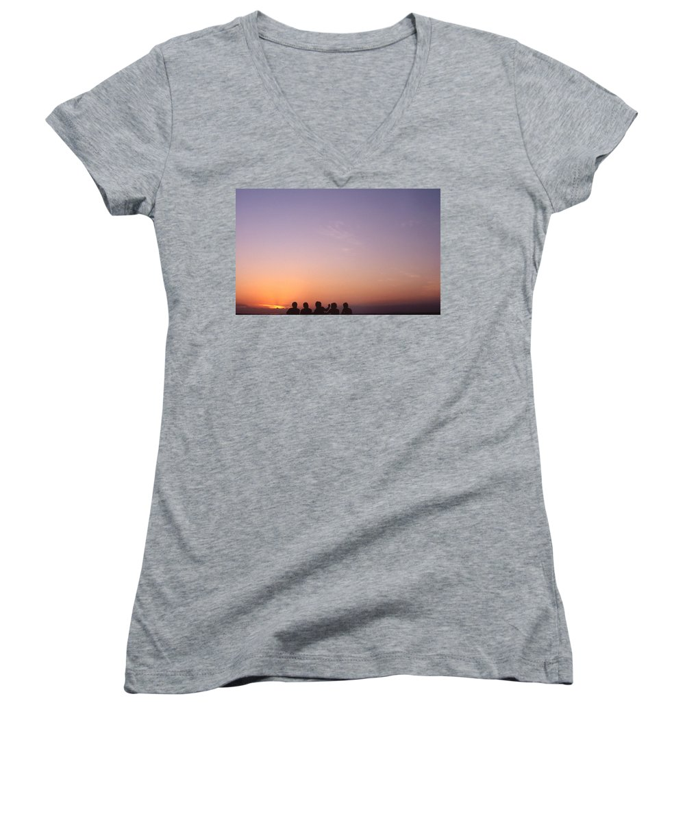 Bahia Women's V-Neck T-Shirt featuring the photograph Friends by Patrick Klauss