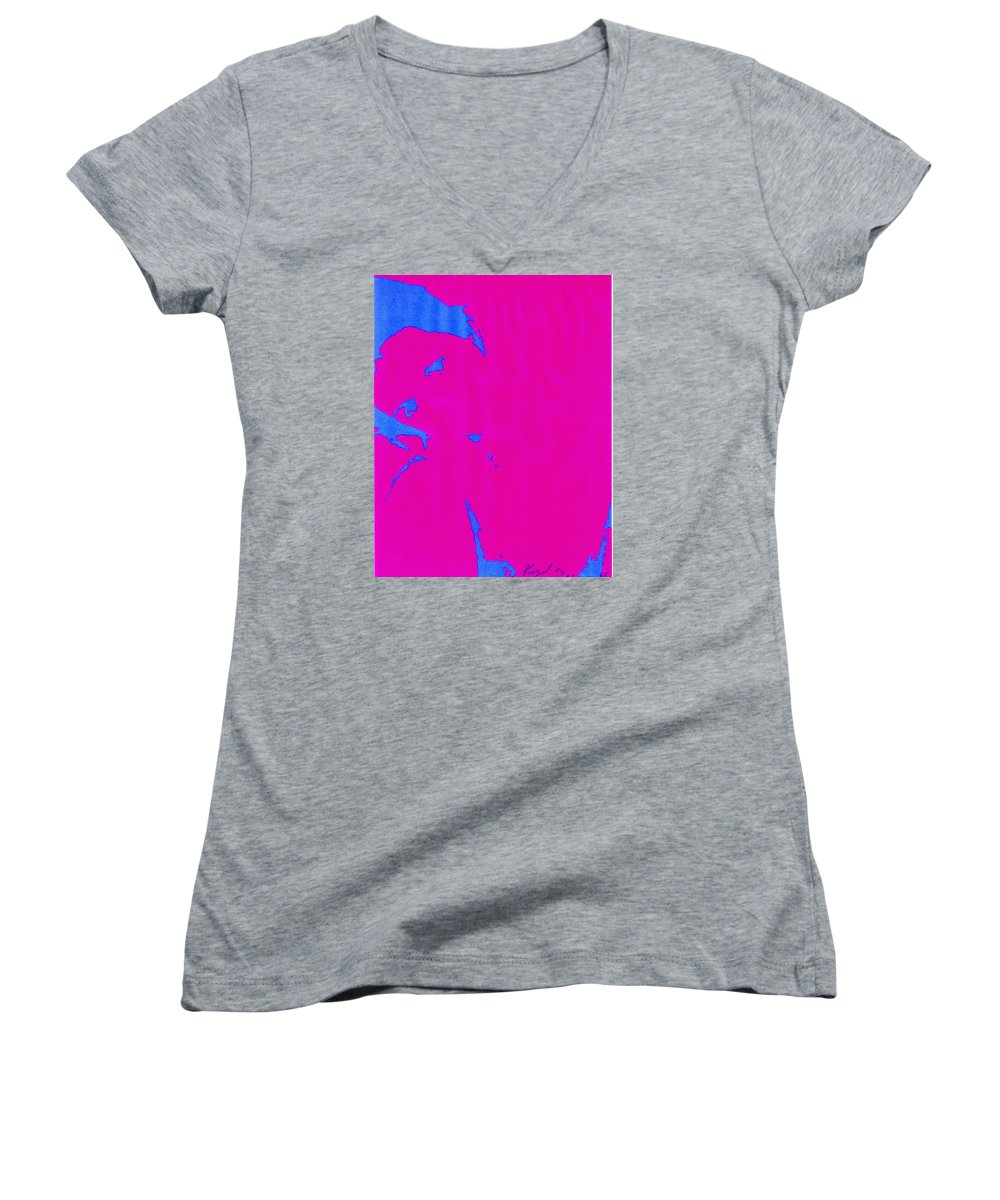 French Girl Women's V-Neck T-Shirt featuring the photograph Gisele A French Girl by Dawn Johansen