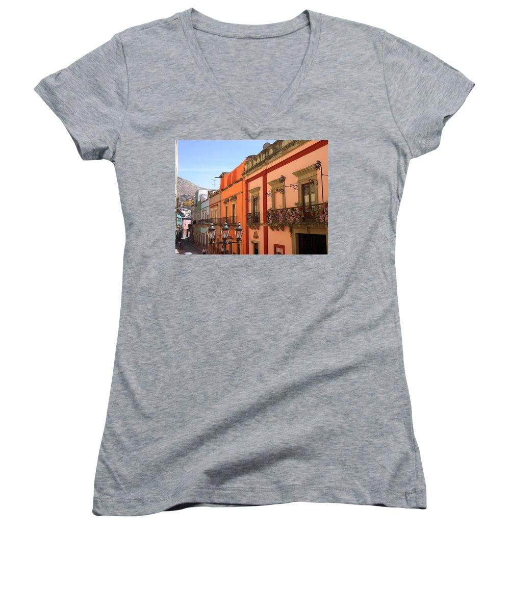 Charity Women's V-Neck T-Shirt featuring the photograph Guanajuato by Mary-Lee Sanders