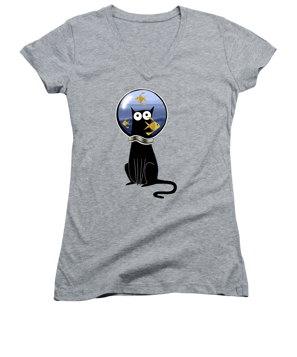 Goldfish Women's V-Neck T-Shirts