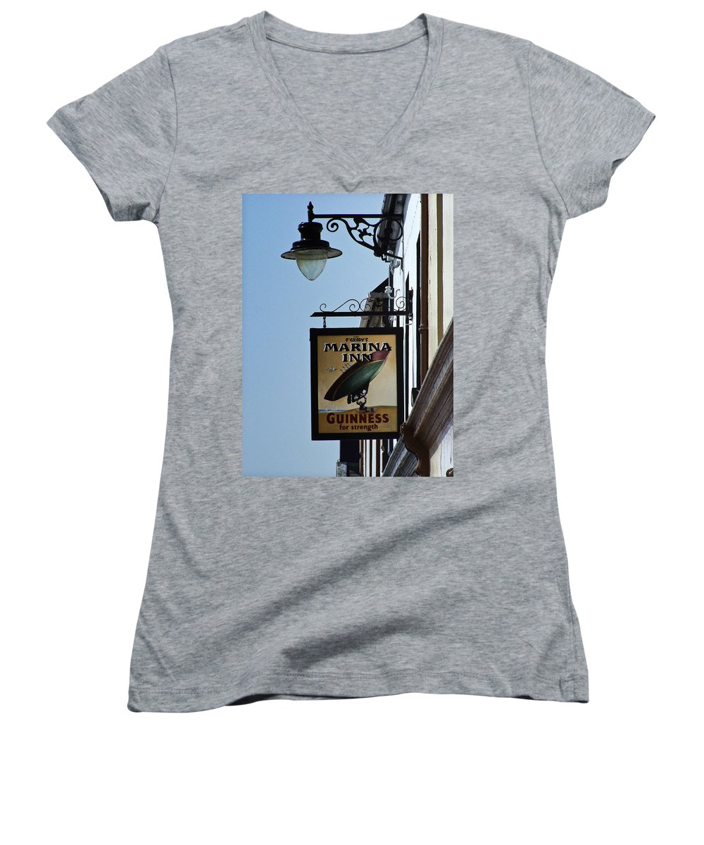 Irish Women's V-Neck T-Shirt featuring the photograph Guinness For Strength Dingle Ireland by Teresa Mucha