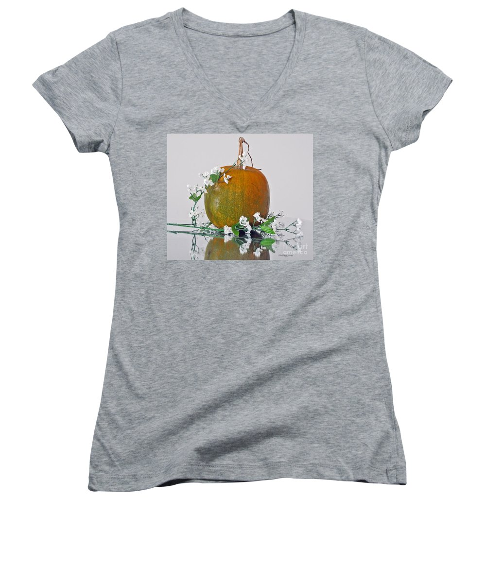 Photography Women's V-Neck (Athletic Fit) featuring the photograph Harvest by Shelley Jones