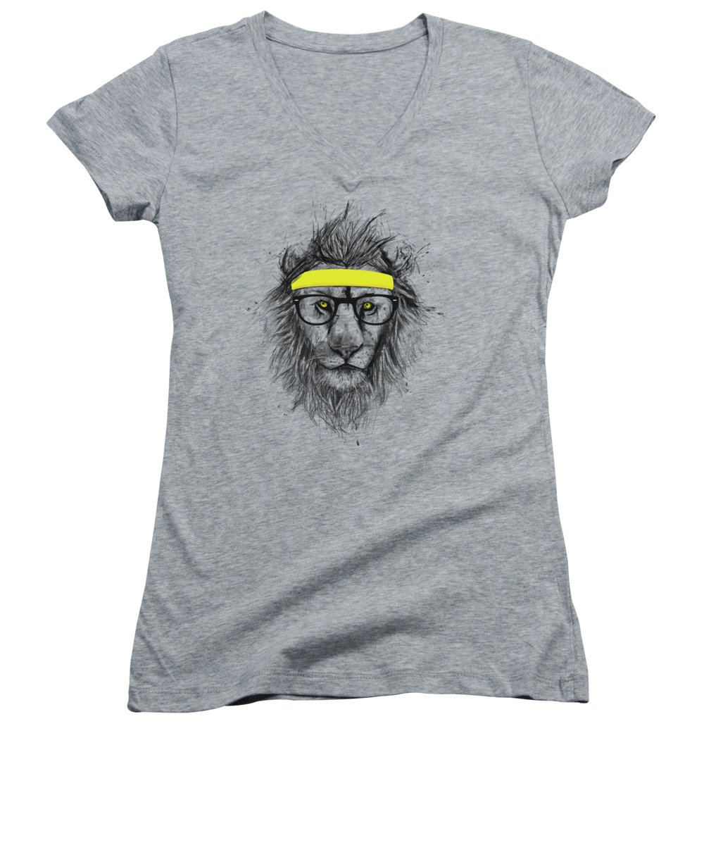 Funny Drawings Women's V-Neck T-Shirts