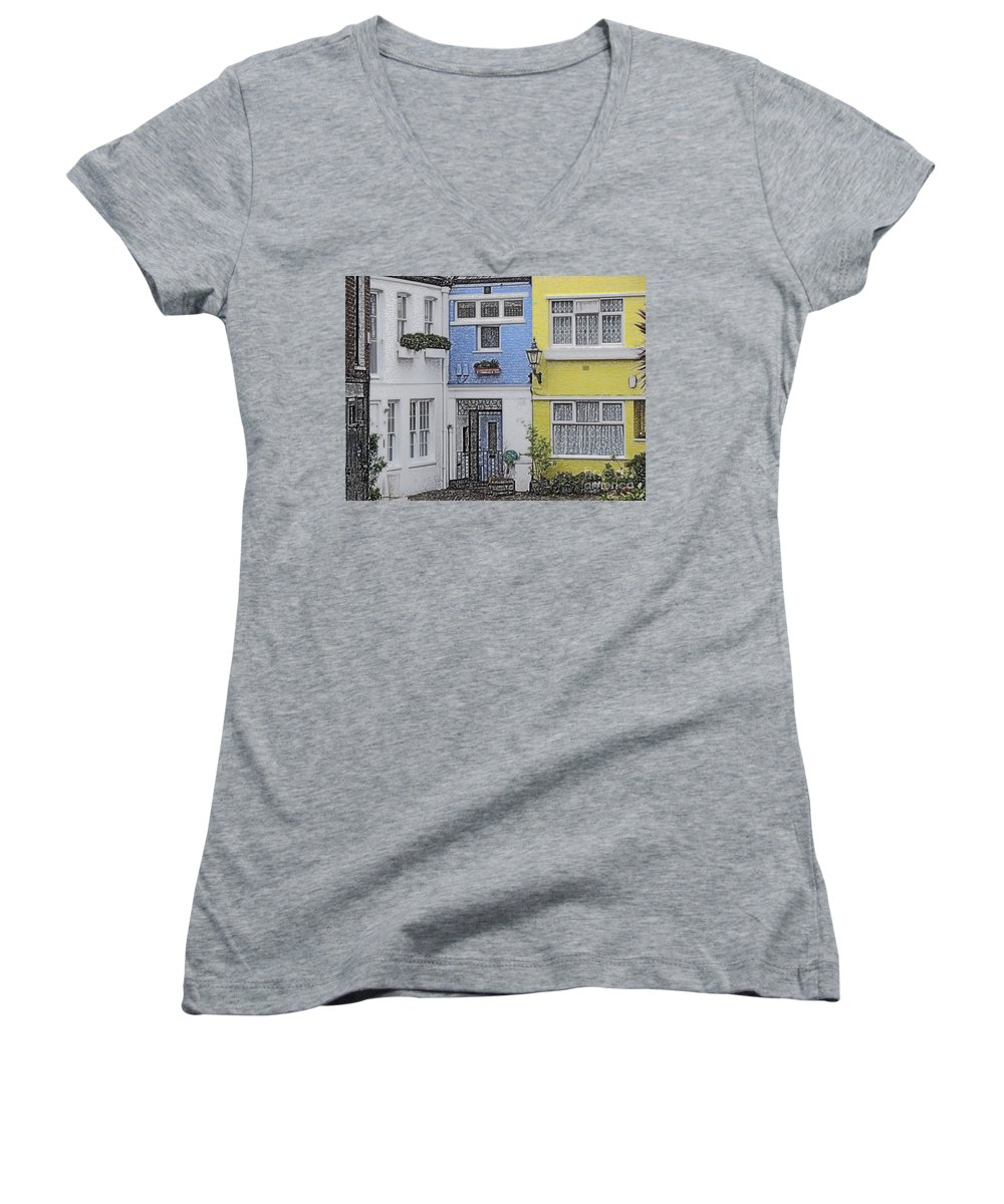 House Women's V-Neck (Athletic Fit) featuring the photograph Houses by Amanda Barcon
