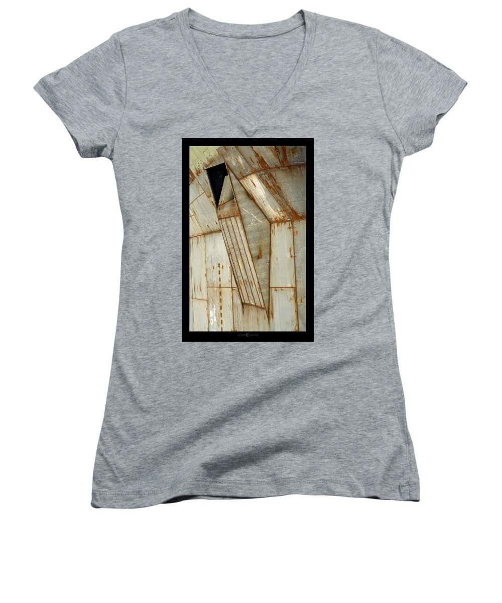 Hull Women's V-Neck T-Shirt featuring the photograph Hull Detail by Tim Nyberg