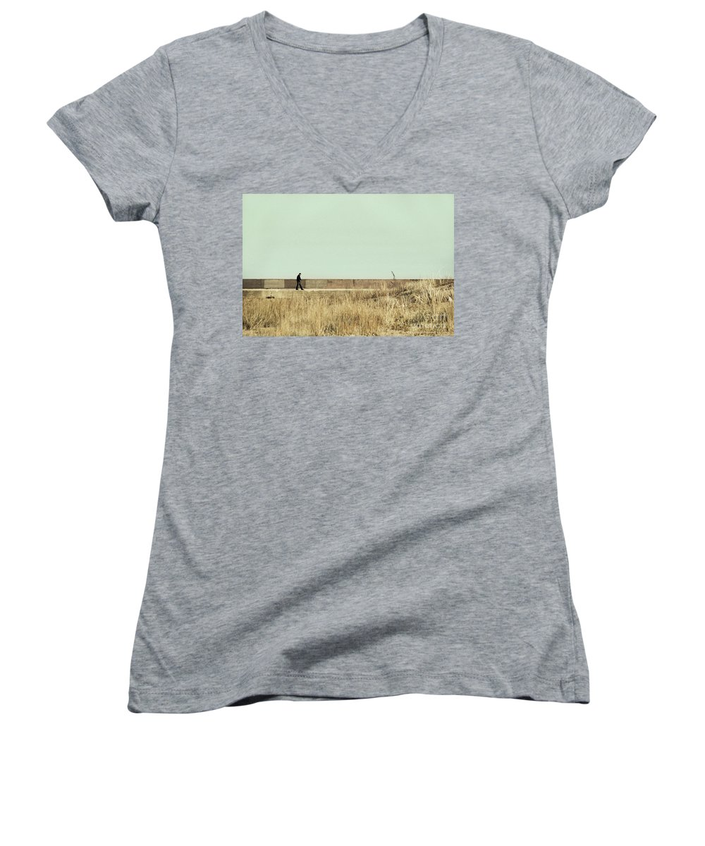 Dipasquale Women's V-Neck (Athletic Fit) featuring the photograph I Remember What We Said by Dana DiPasquale