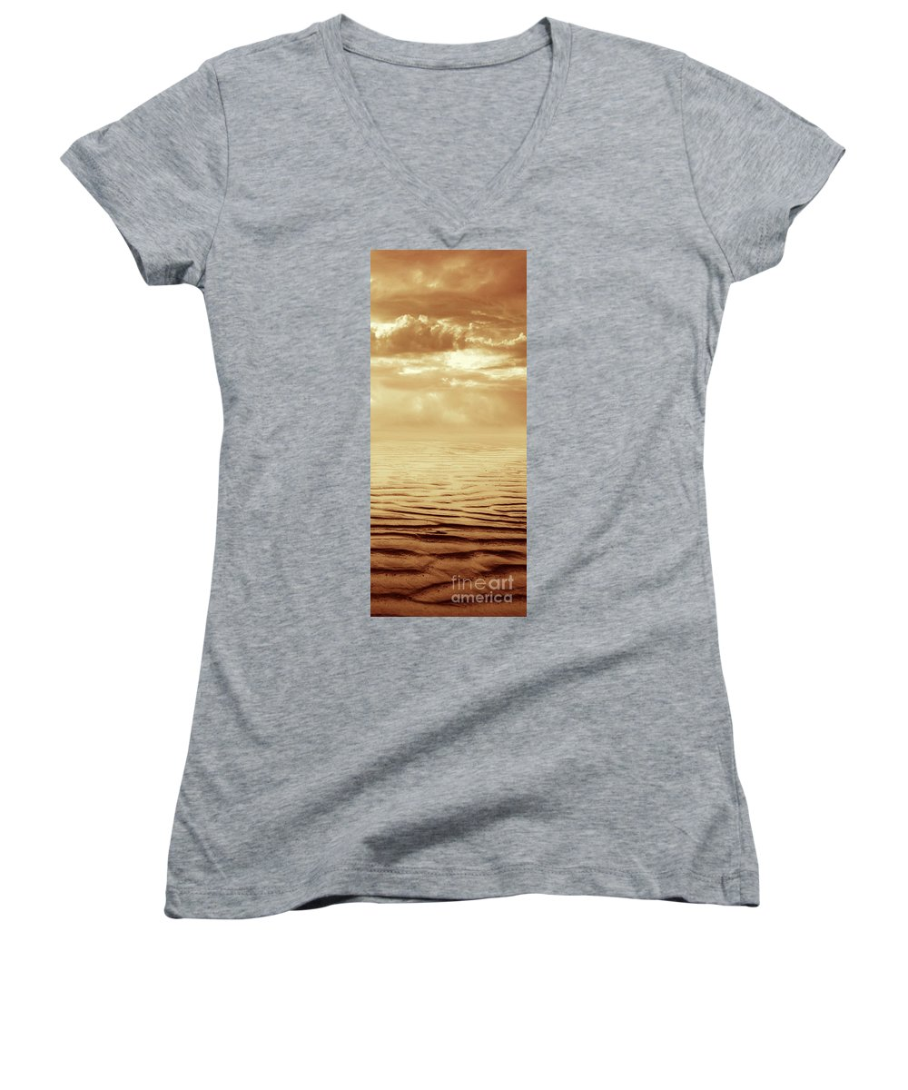 Dipasquale Women's V-Neck (Athletic Fit) featuring the photograph Illusion Never Changed Into Something Real by Dana DiPasquale