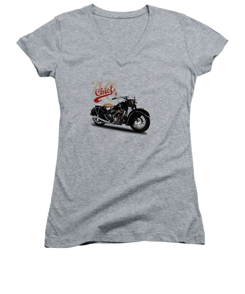 Motorcycle Women's V-Neck T-Shirts