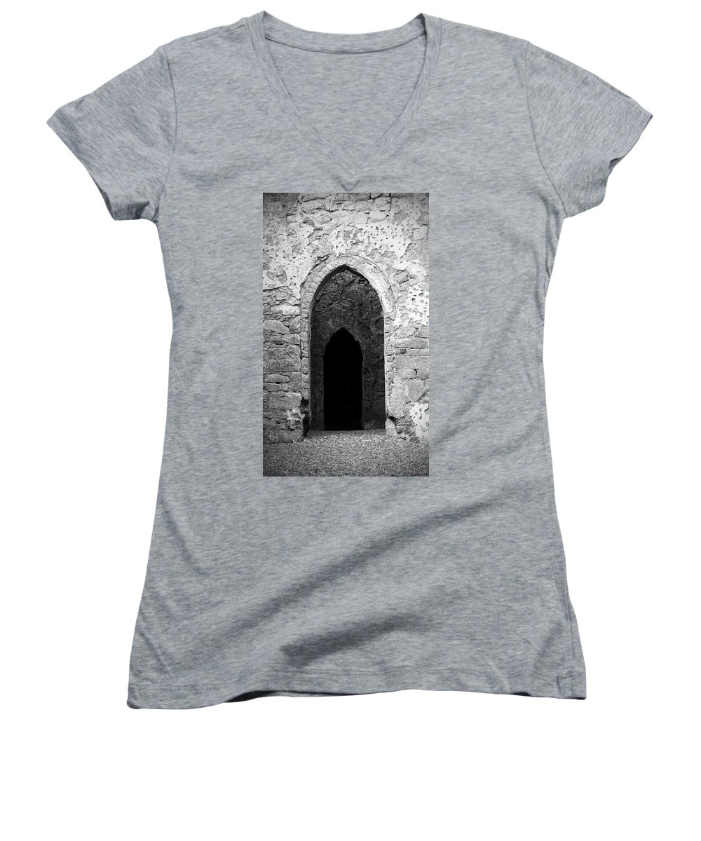 Ireland Women's V-Neck (Athletic Fit) featuring the photograph Inner Sanctum Fuerty Church Roscommon Ireland by Teresa Mucha