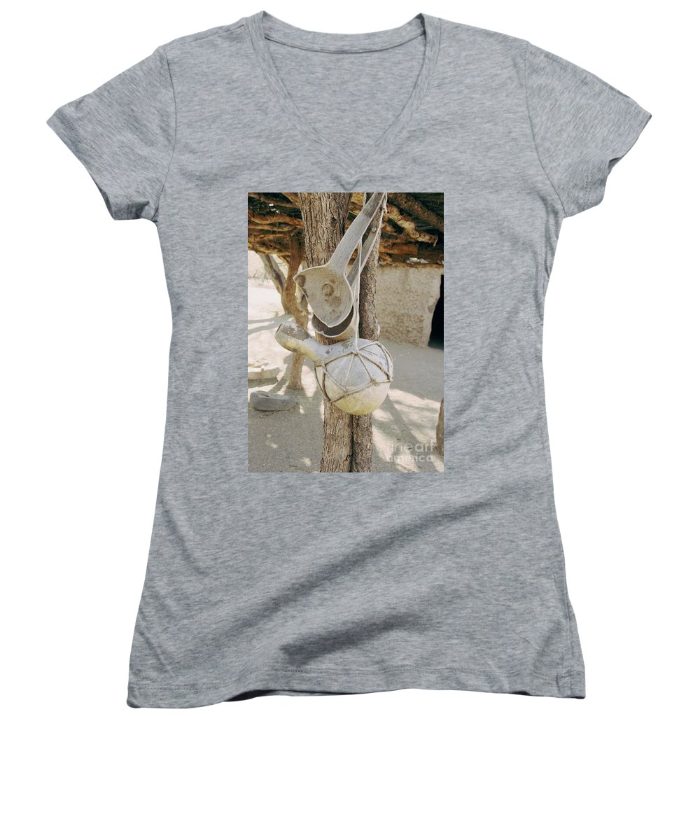 Tumacacori Women's V-Neck (Athletic Fit) featuring the photograph Kitchen Utensils by Kathy McClure
