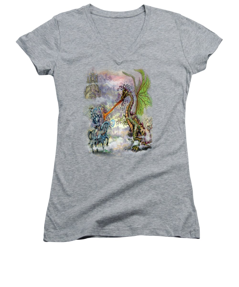 Knight Women's V-Neck T-Shirts