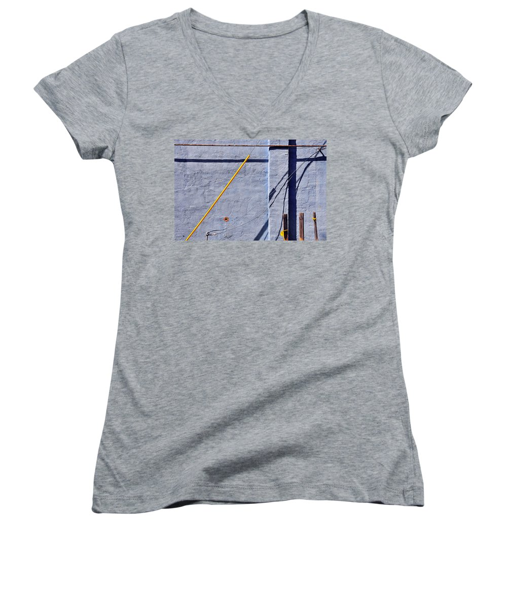 Skip Hunt Women's V-Neck (Athletic Fit) featuring the photograph Krishna Blue by Skip Hunt