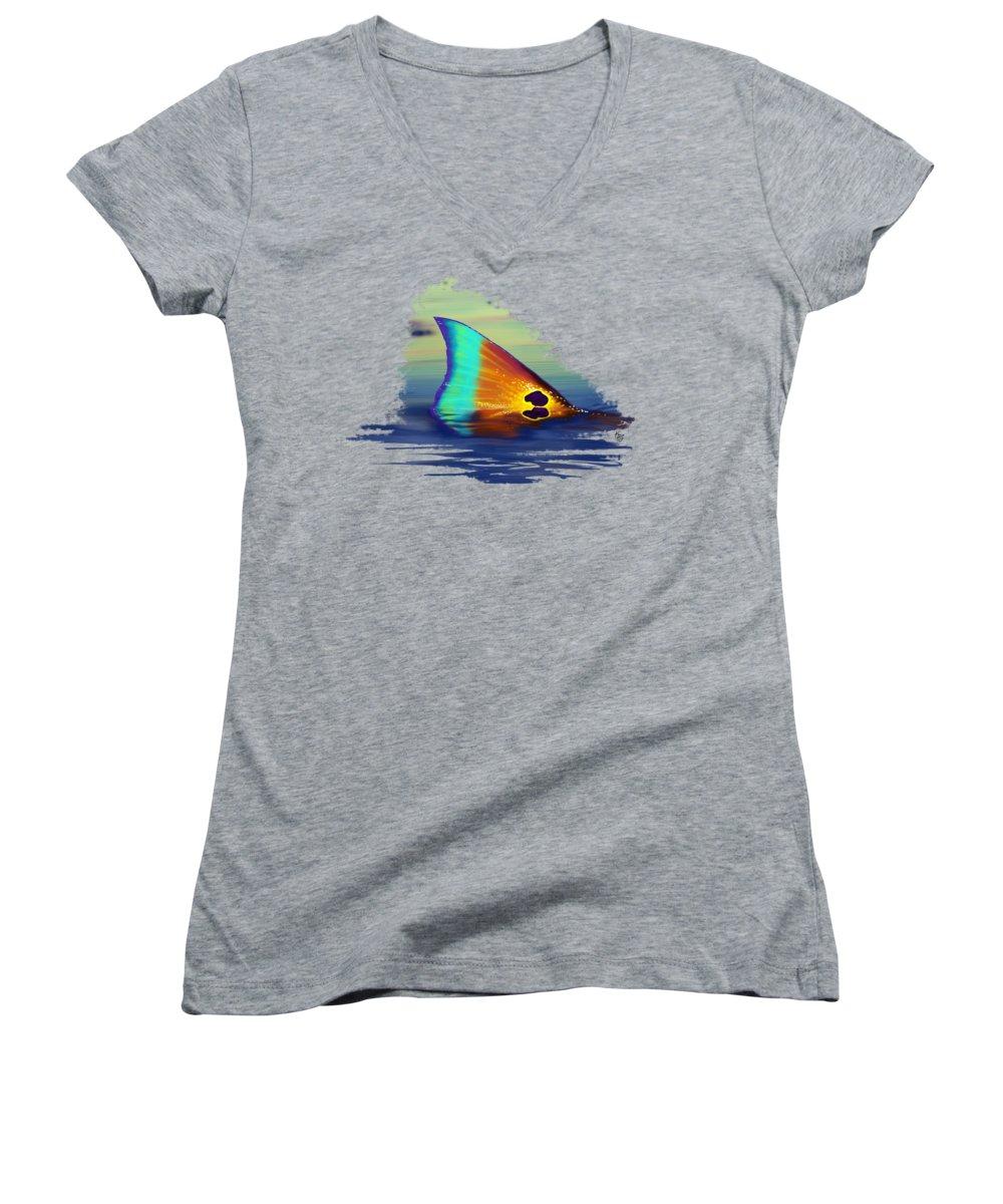 Drum Women's V-Neck T-Shirts