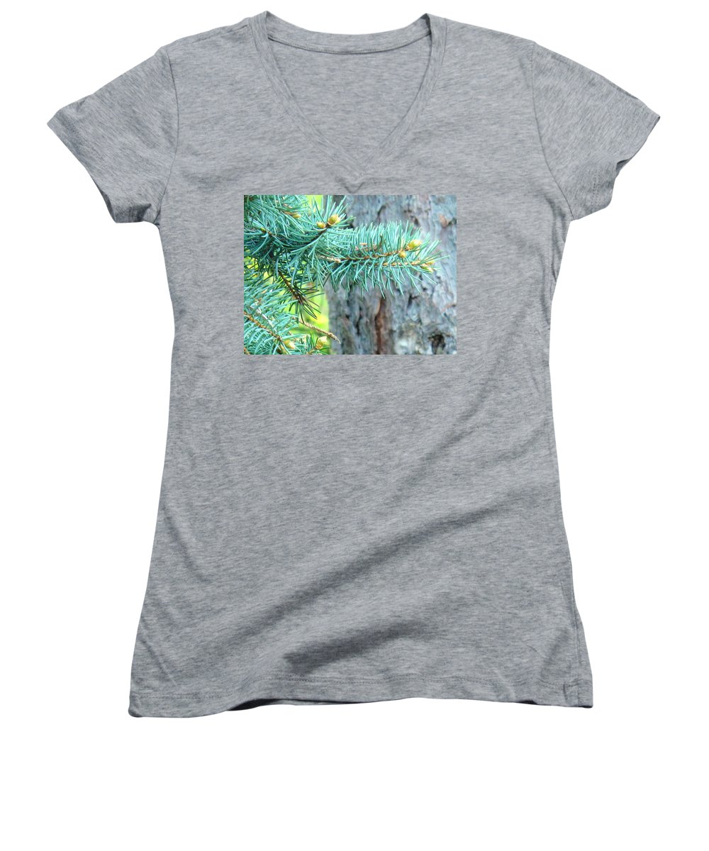 Pine Women's V-Neck (Athletic Fit) featuring the photograph Needles by Ian MacDonald