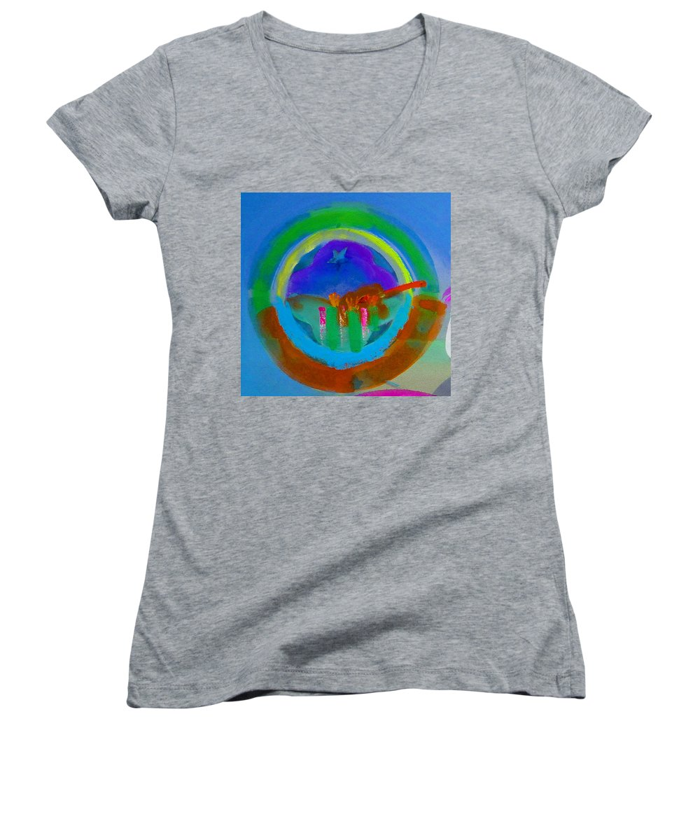 Love Women's V-Neck T-Shirt featuring the painting New World Spring by Charles Stuart