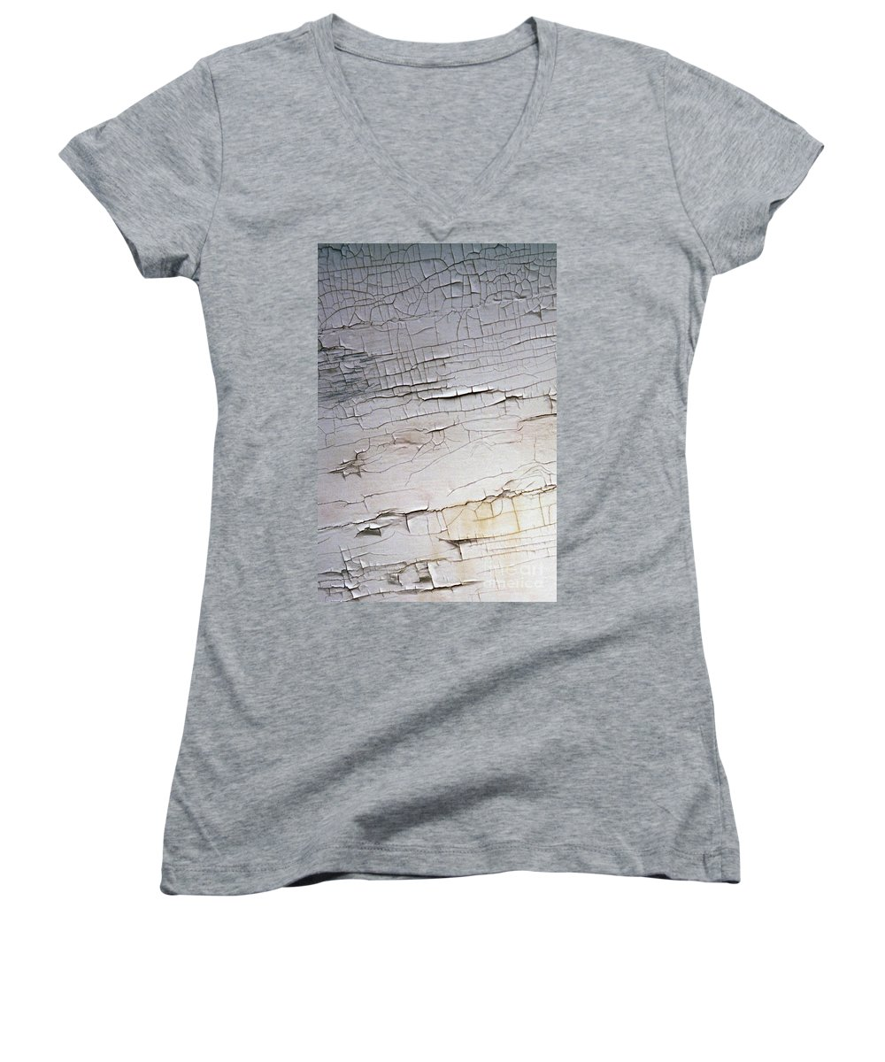 Paint Women's V-Neck T-Shirt featuring the photograph Old Siding by Richard Rizzo
