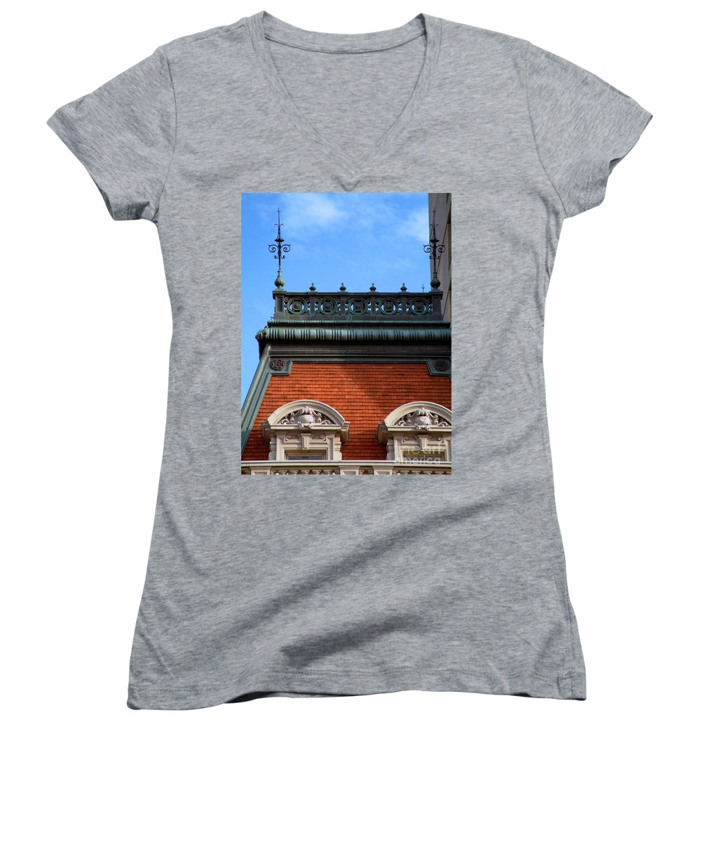 Apartment Women's V-Neck (Athletic Fit) featuring the photograph On A Clear Day by RC DeWinter