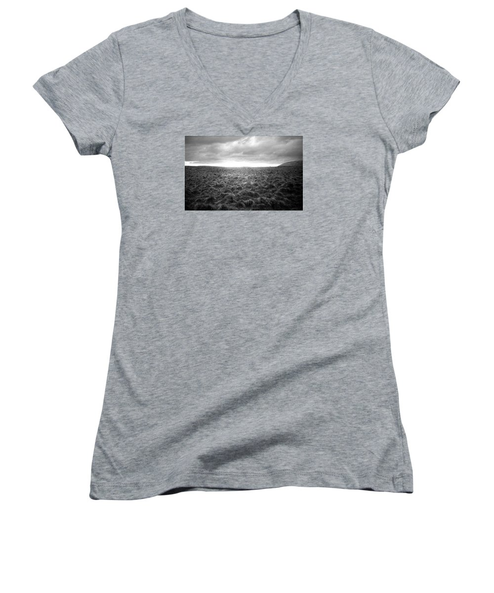 Landscape Women's V-Neck (Athletic Fit) featuring the photograph Opening by Ted M Tubbs