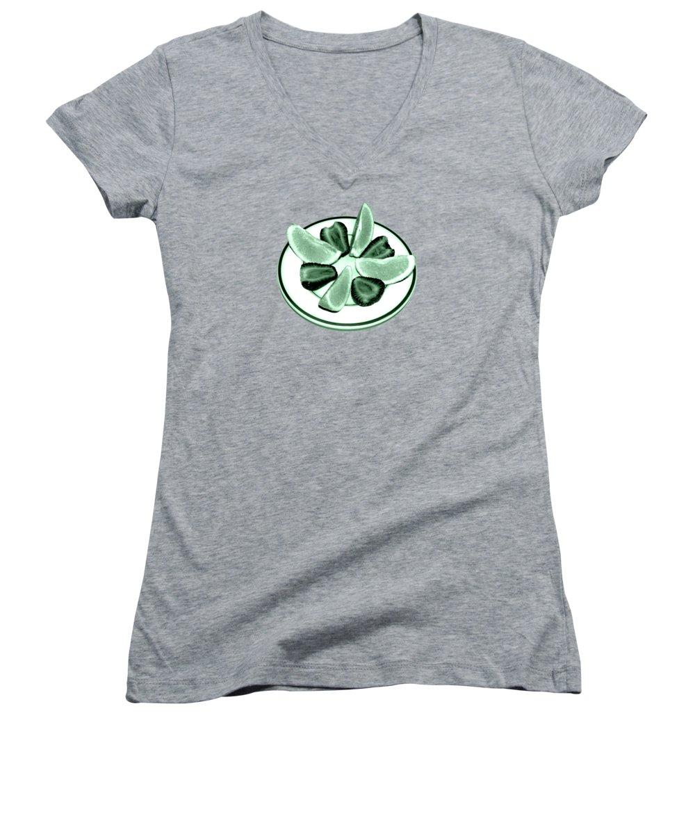 Strawberry Women's V-Neck T-Shirts