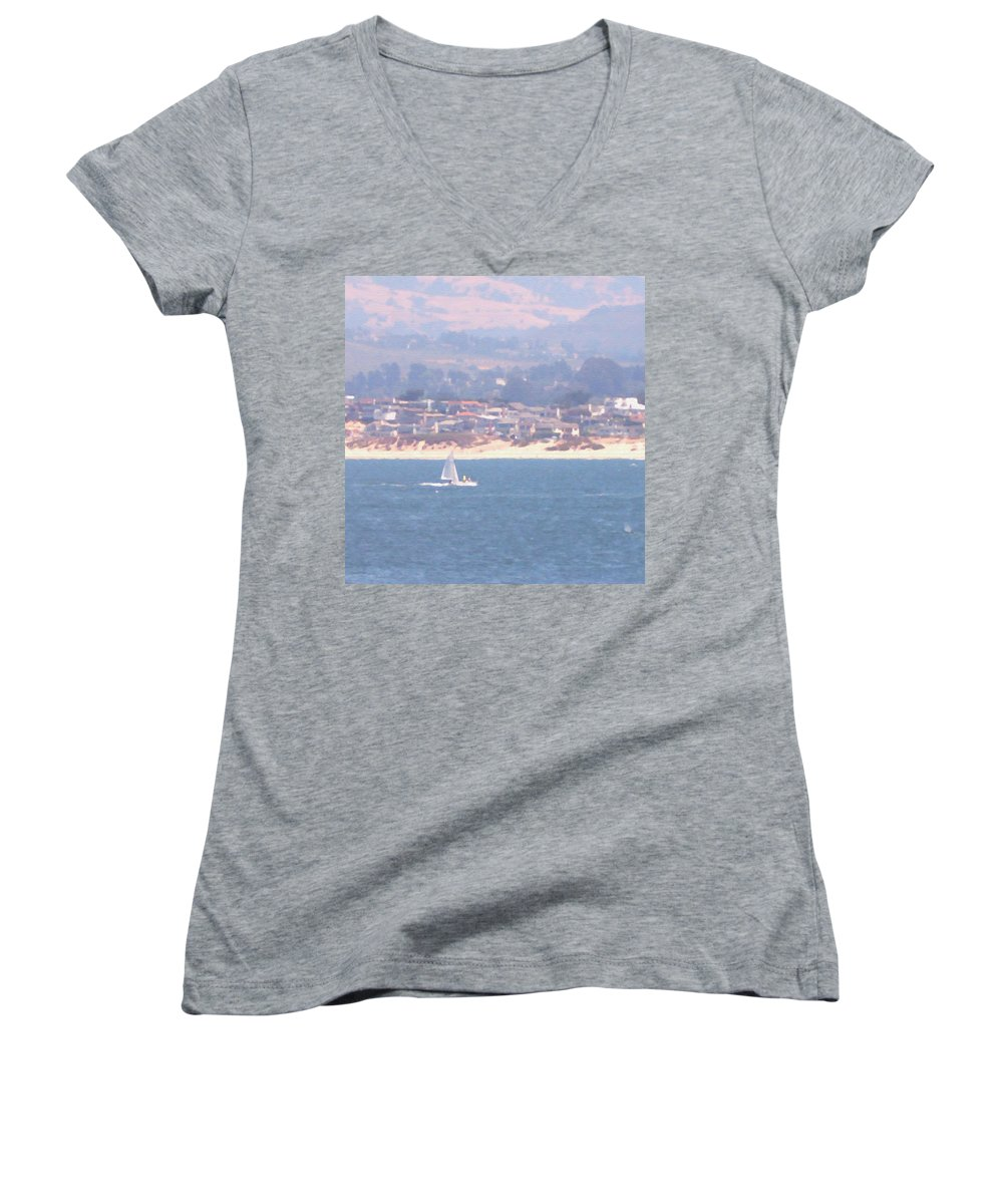 Sailing Women's V-Neck (Athletic Fit) featuring the photograph Pastel Sail by Pharris Art