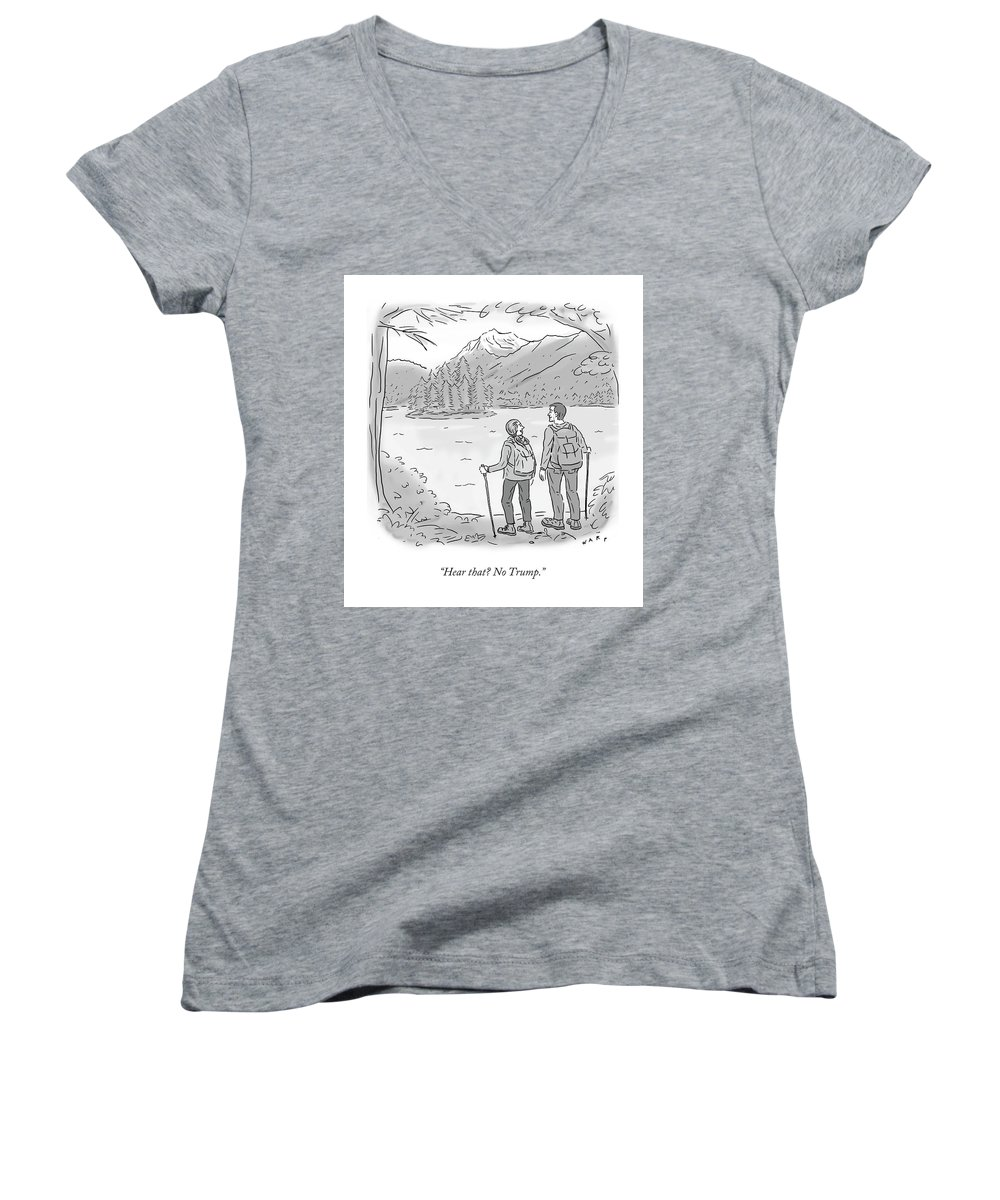 24309a332c502 Peaceful Hikers Women s V-Neck for Sale by Kim Warp