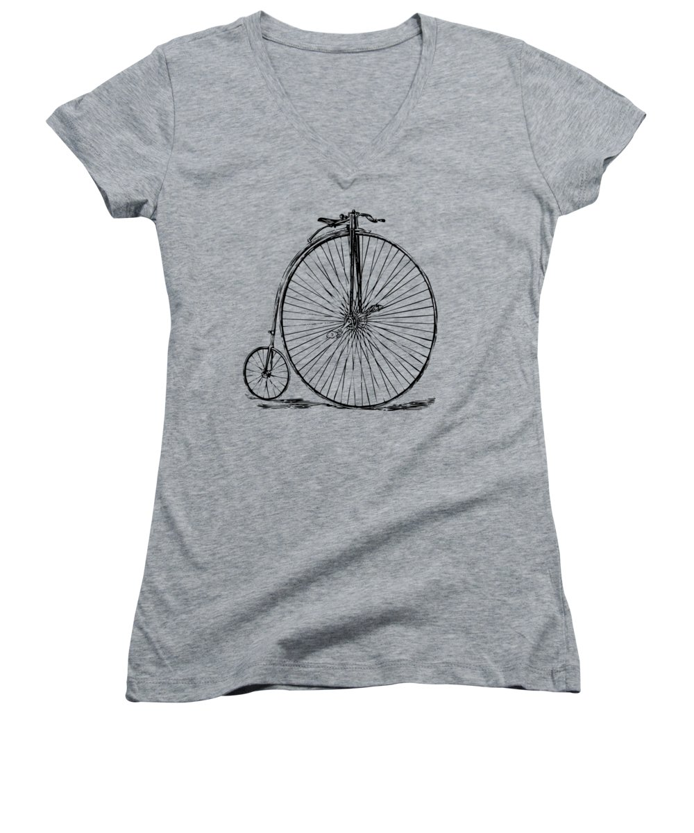 Bicycle Women's V-Neck T-Shirts