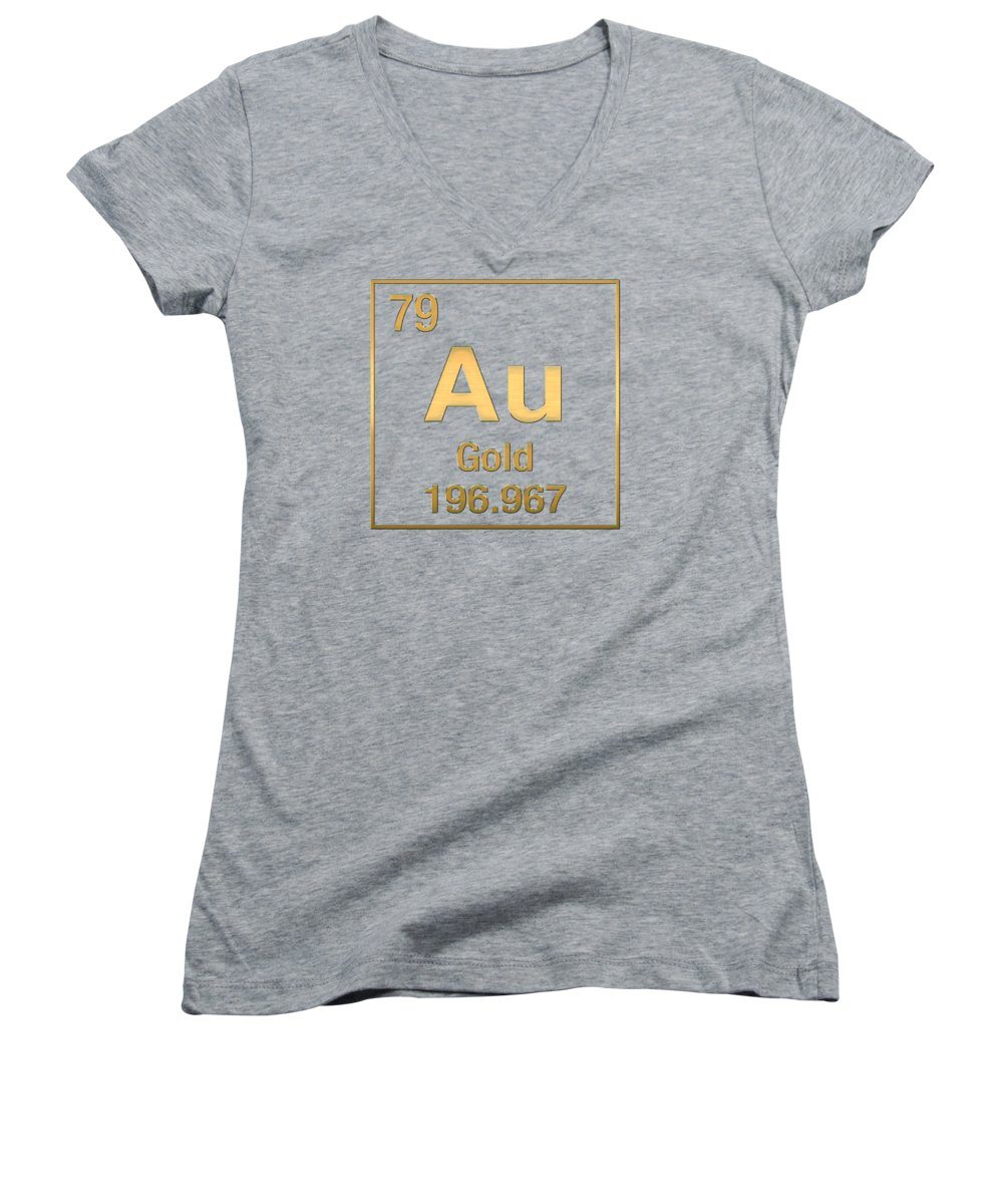 Periodic table of elements gold au gold on gold womens v the elements collection by serge averbukh womens v neck t shirt featuring gamestrikefo Images