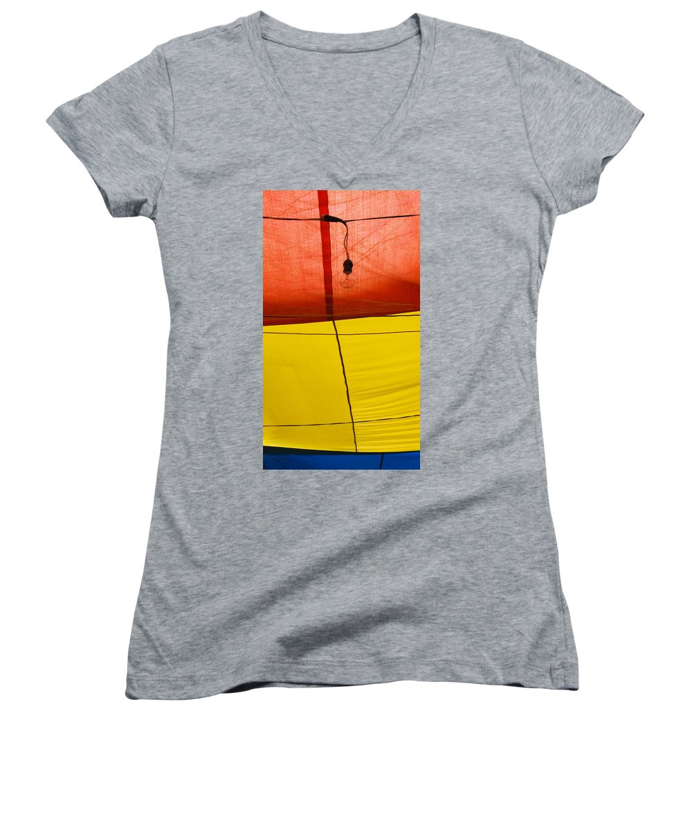 Bulb Women's V-Neck (Athletic Fit) featuring the photograph Primary Light by Skip Hunt