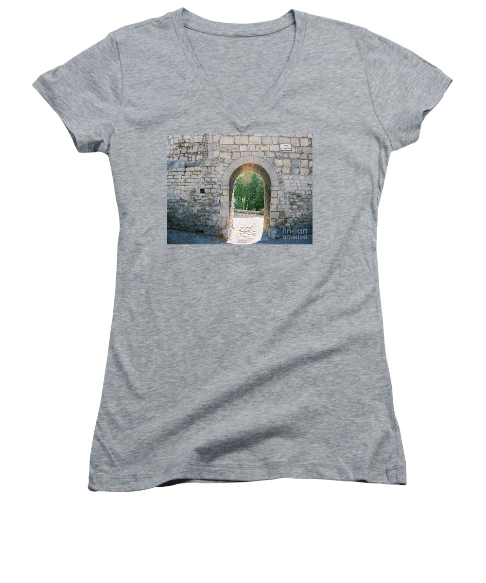 Promise Women's V-Neck T-Shirt featuring the photograph Promise by Nadine Rippelmeyer