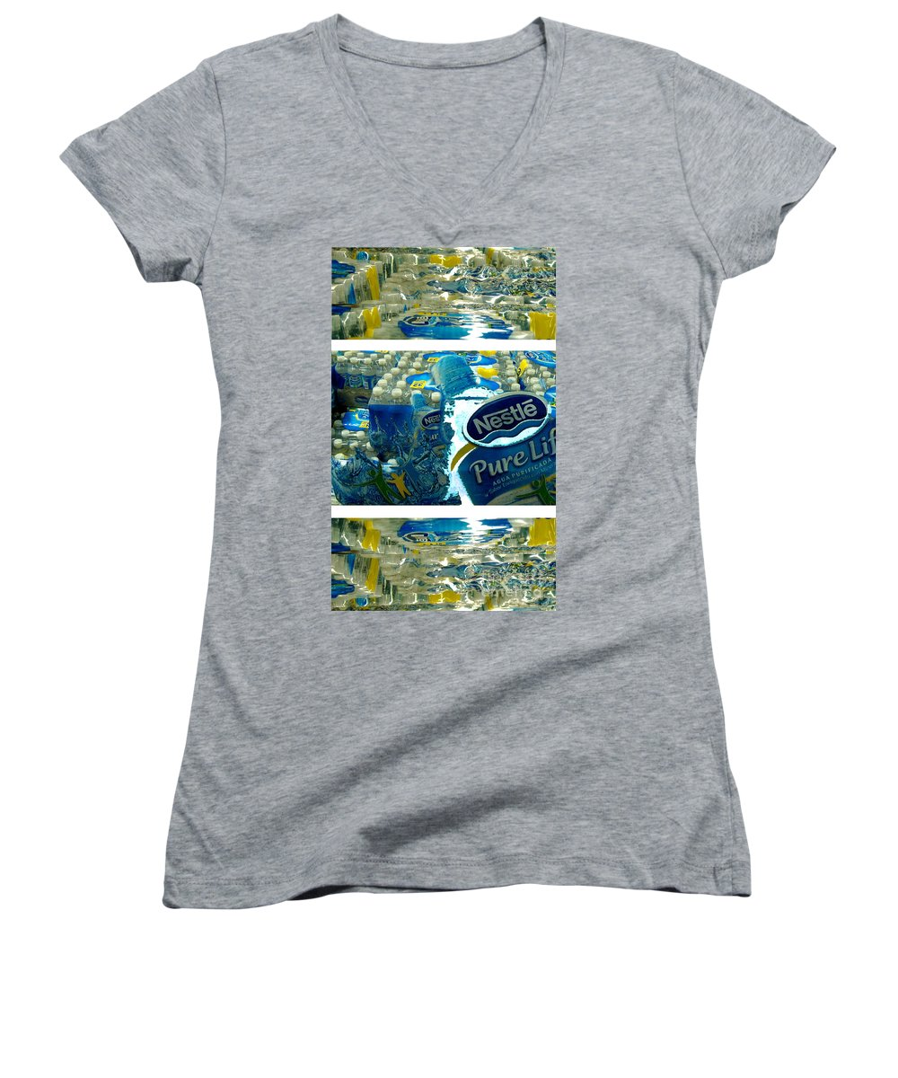 Water Women's V-Neck (Athletic Fit) featuring the photograph Pure Life by Ze DaLuz